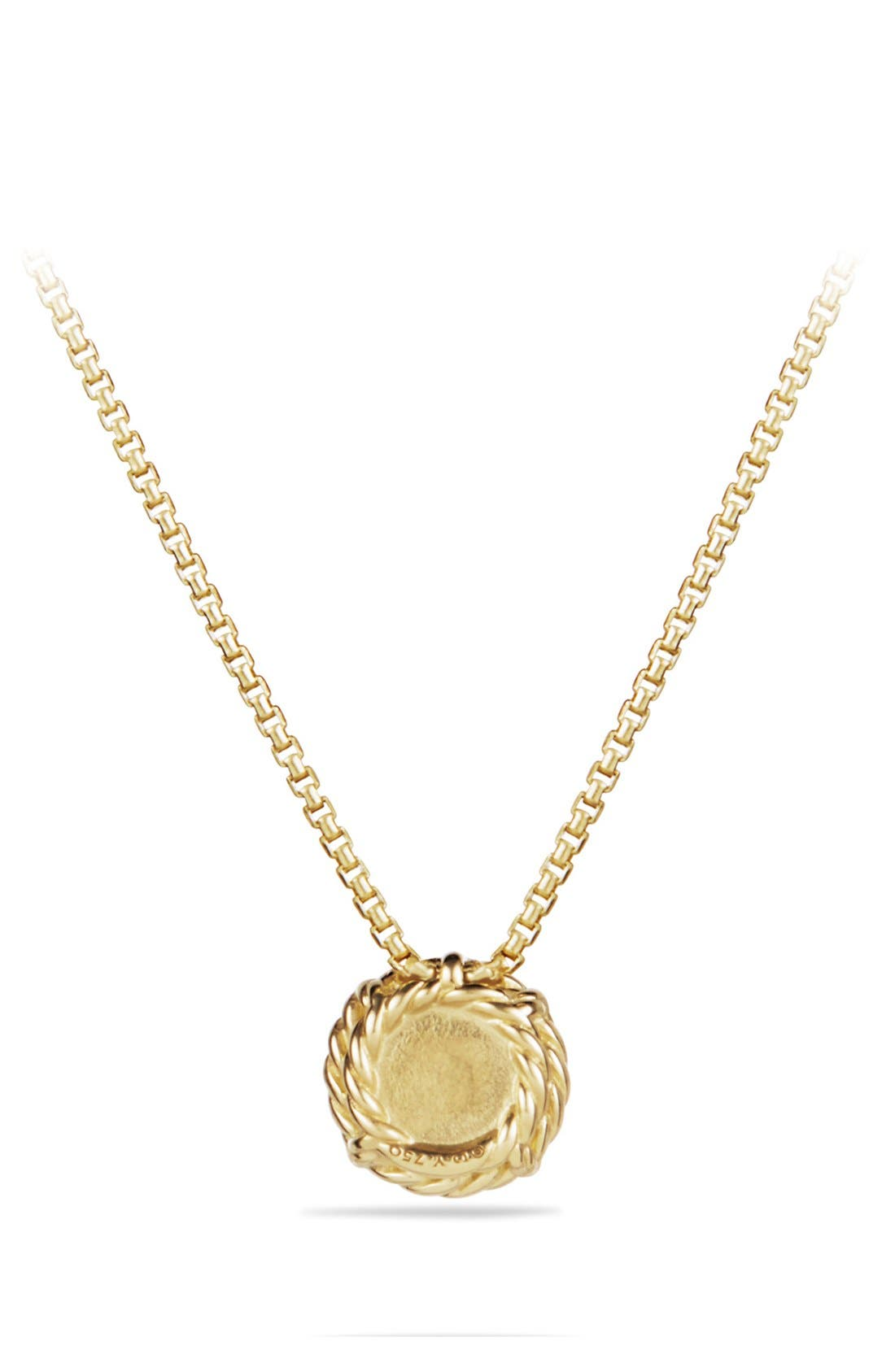DAVID YURMAN,                             'Châtelaine' Pendant Necklace with Freshwater Pearl in 18K Gold,                             Alternate thumbnail 2, color,                             900