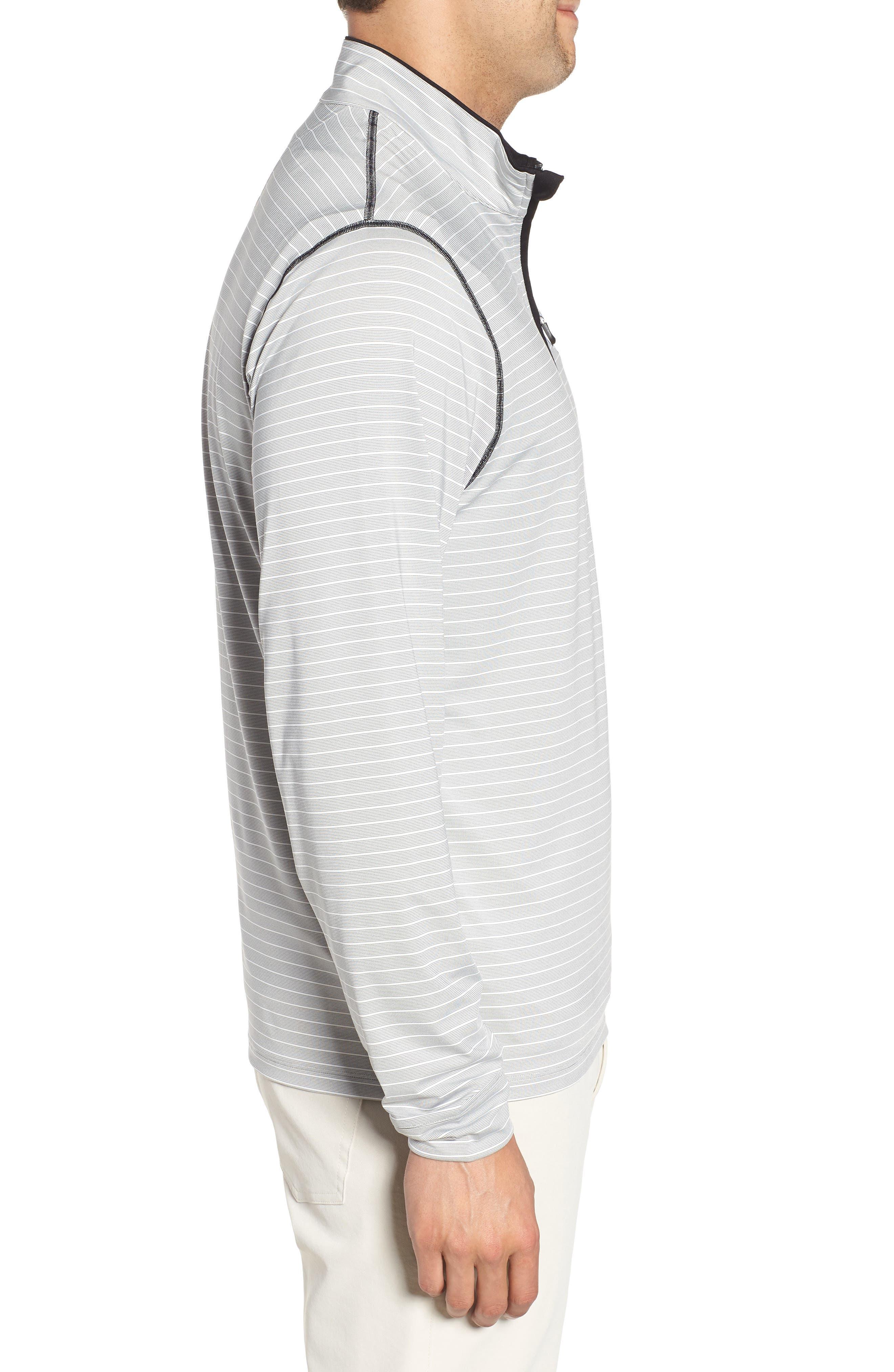 Meridian - Kansas City Chiefs Regular Fit Half Zip Pullover,                             Alternate thumbnail 3, color,                             BLACK