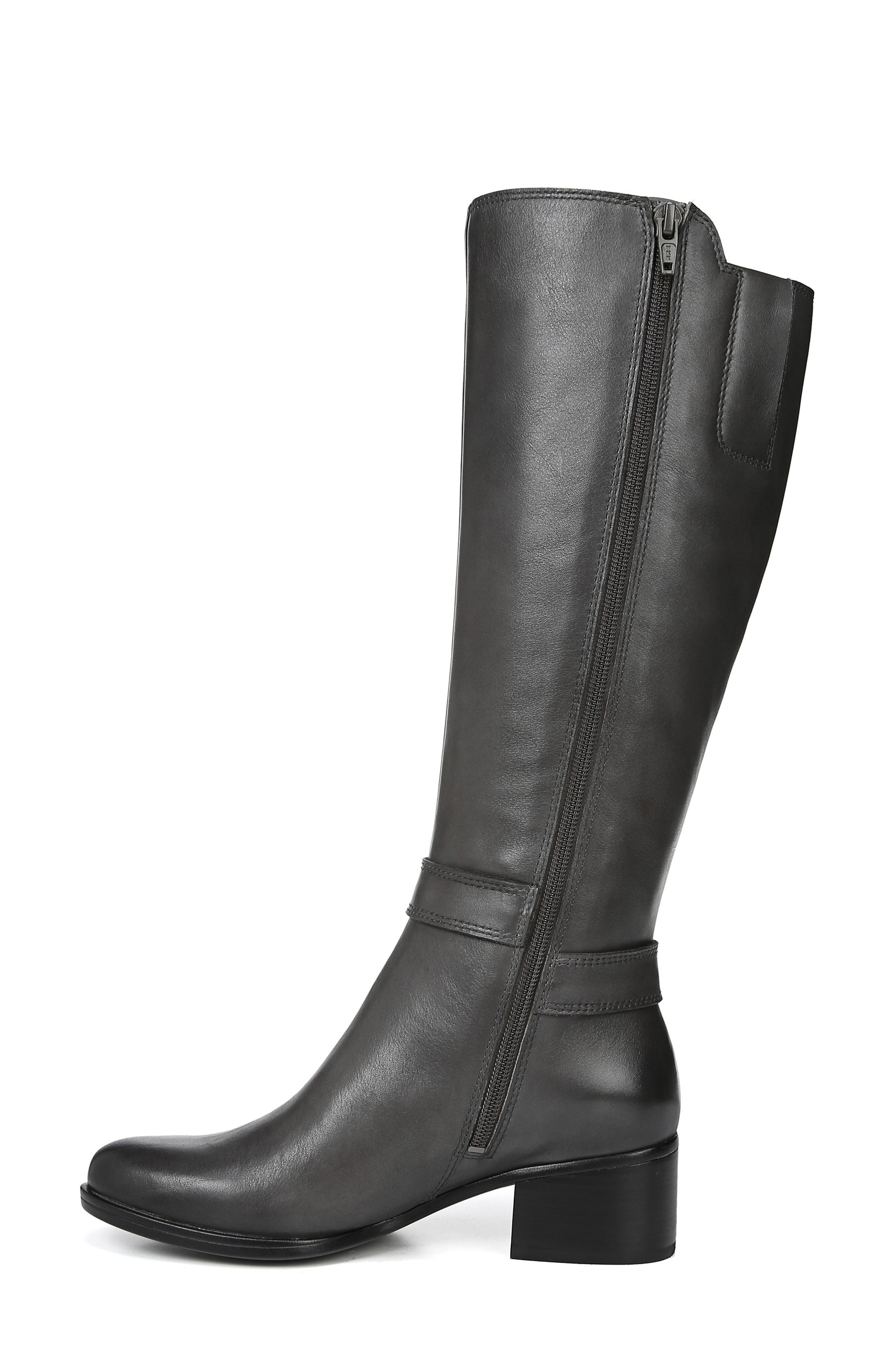 Dane Knee High Riding Boot,                             Alternate thumbnail 8, color,                             GREY LEATHER