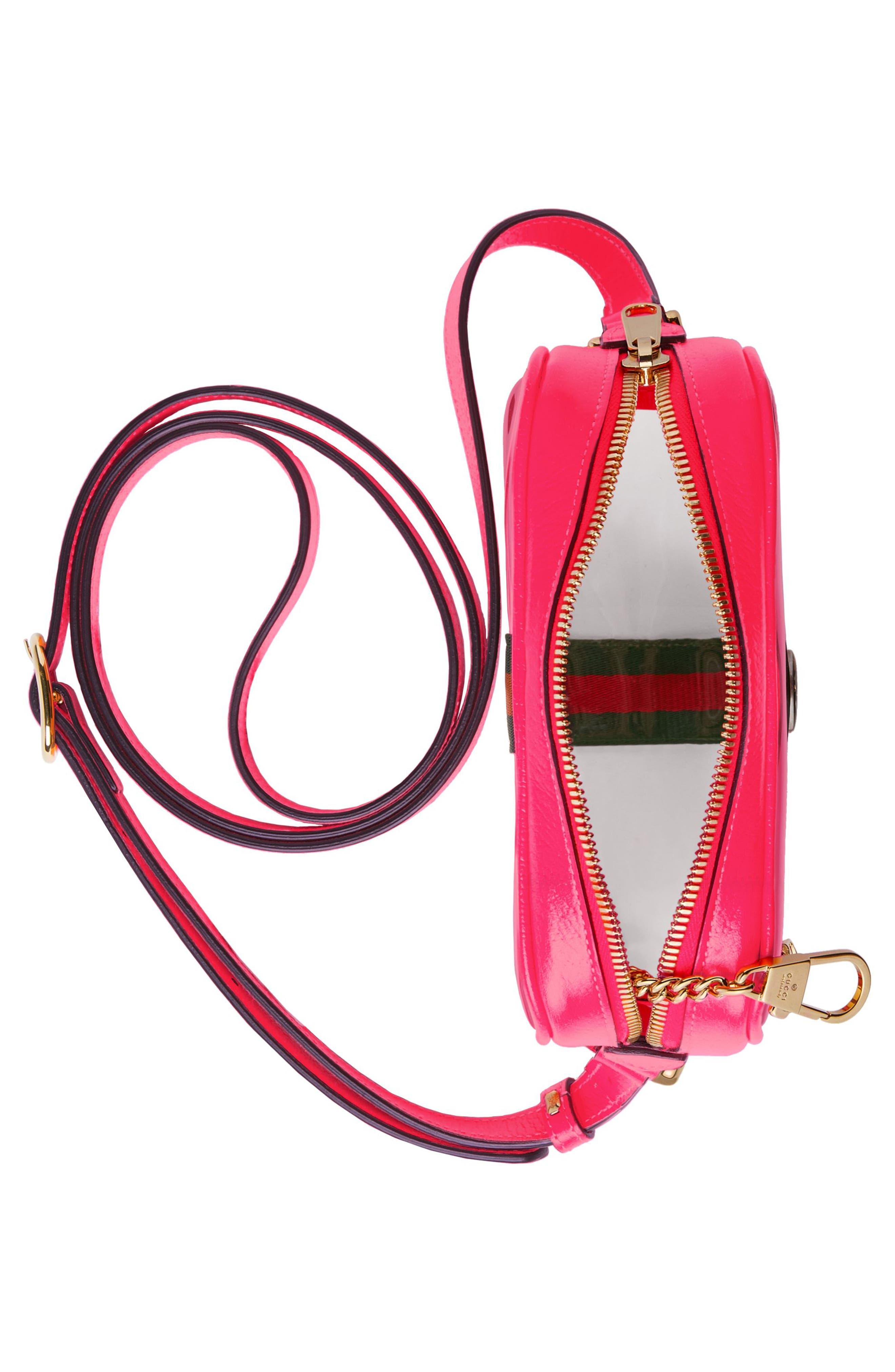 Mini Ophidia Transparent Convertible Bag,                             Alternate thumbnail 3, color,                             650