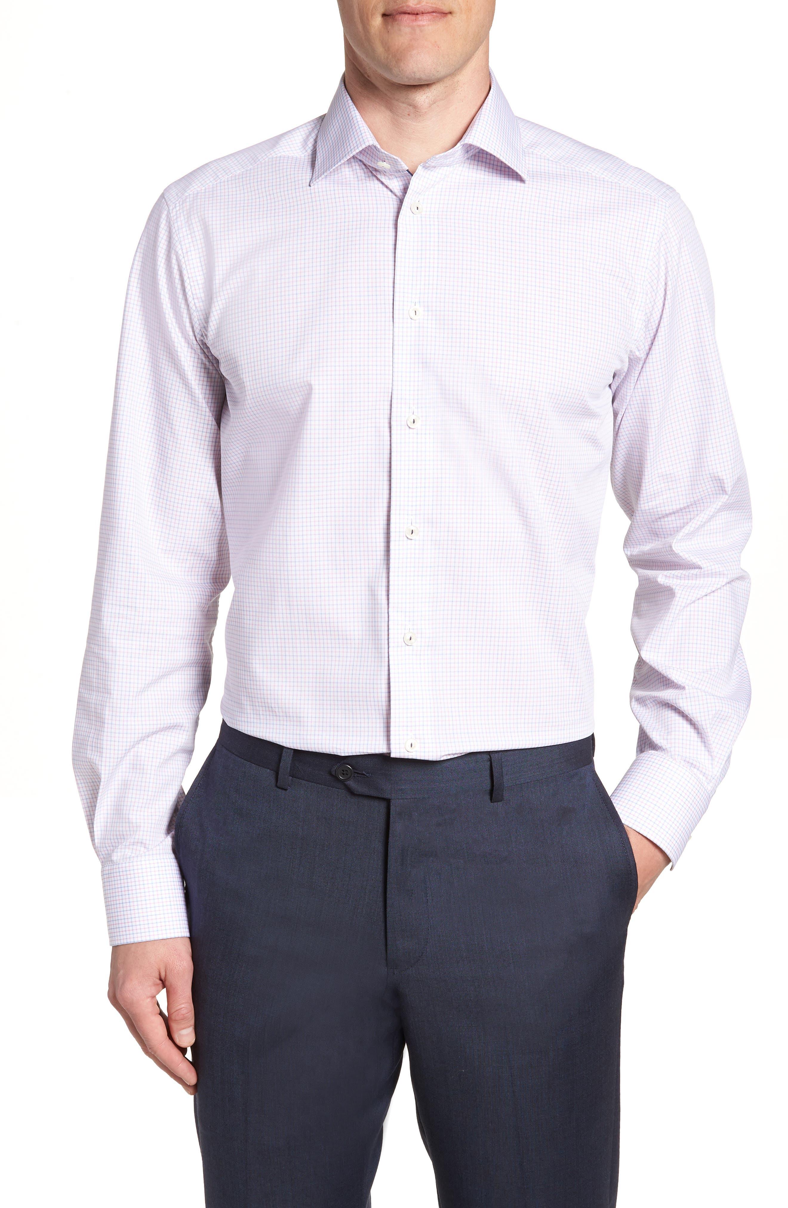 Contemporary Fit Check Dress Shirt,                         Main,                         color, 651