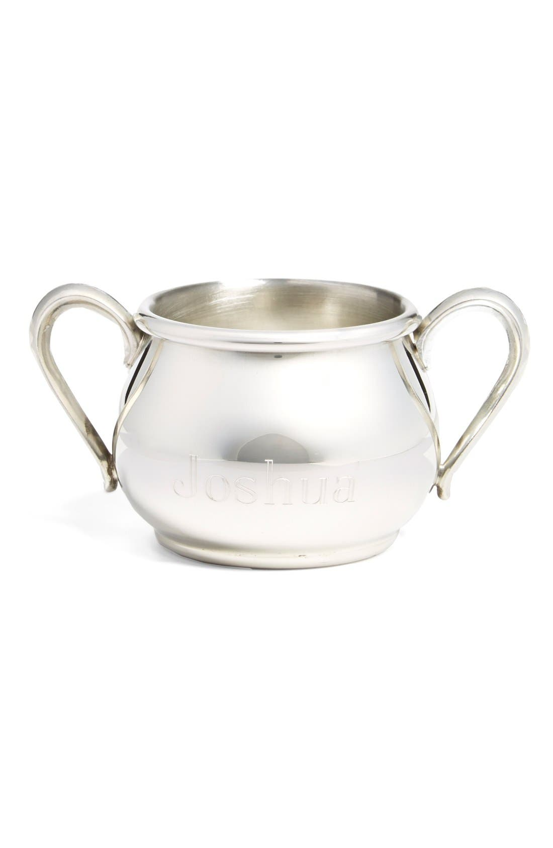 Personalized Double Handle Cup,                         Main,                         color, PEWTER