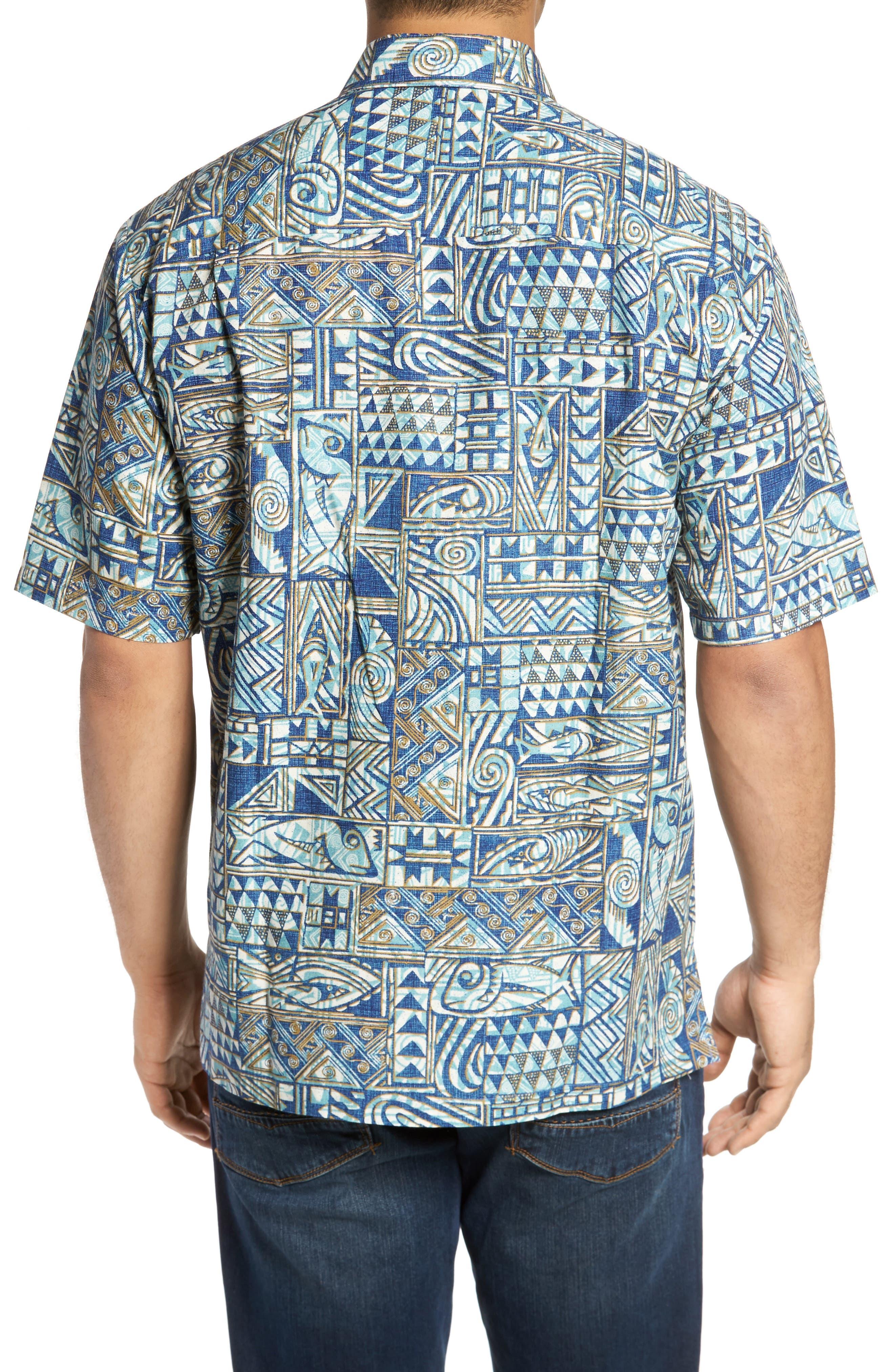 Ehukai Classic Fit Print Sport Shirt,                             Alternate thumbnail 4, color,