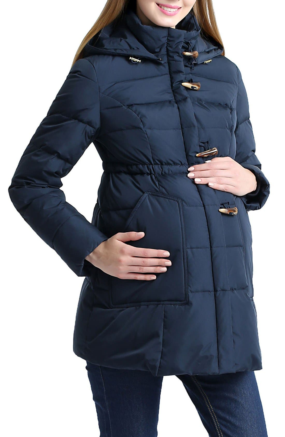 'Marlo' Water Resistant Down Maternity Parka,                             Alternate thumbnail 9, color,