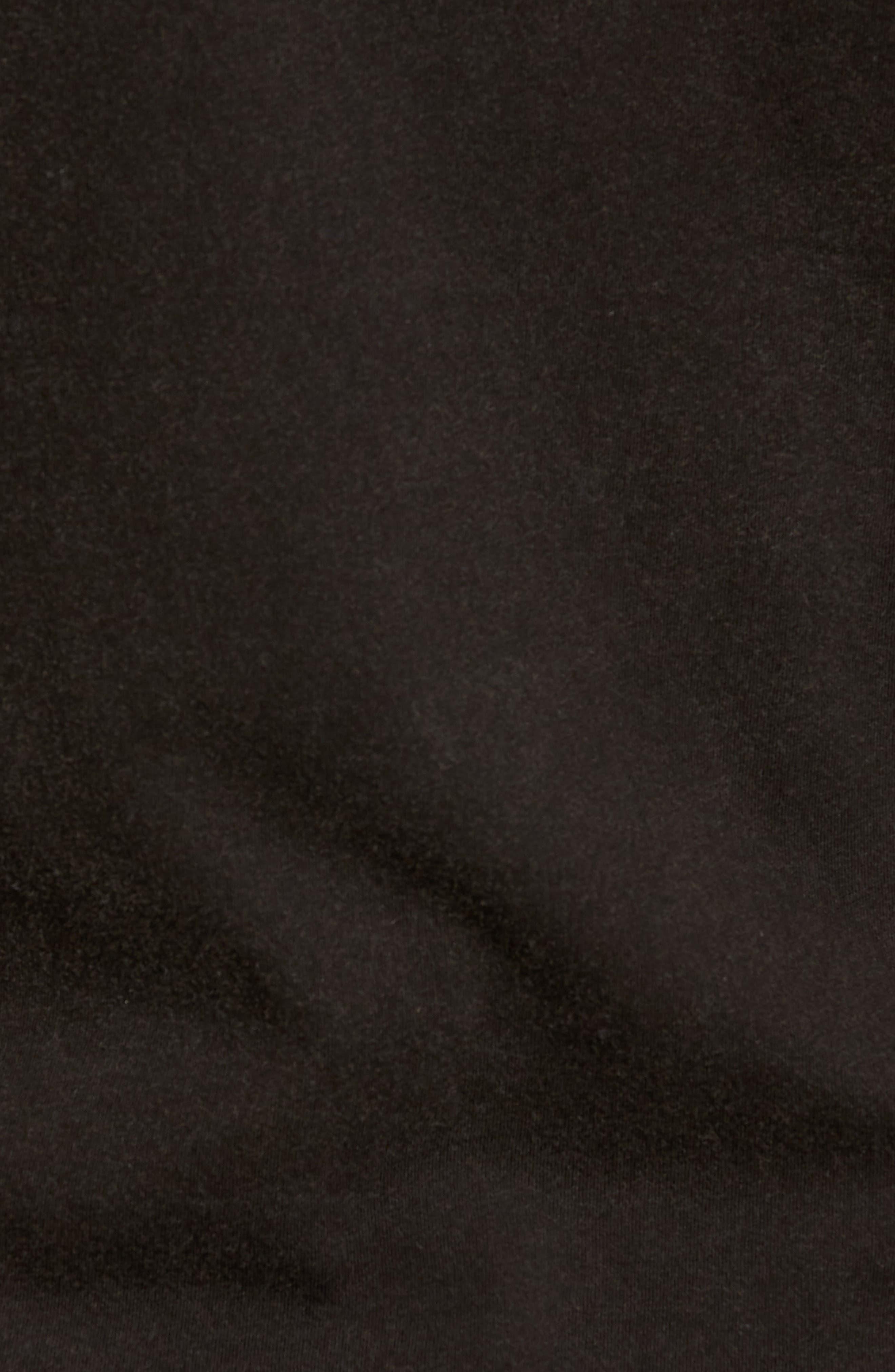 Doors Crewneck T-Shirt,                             Alternate thumbnail 5, color,                             BLACK