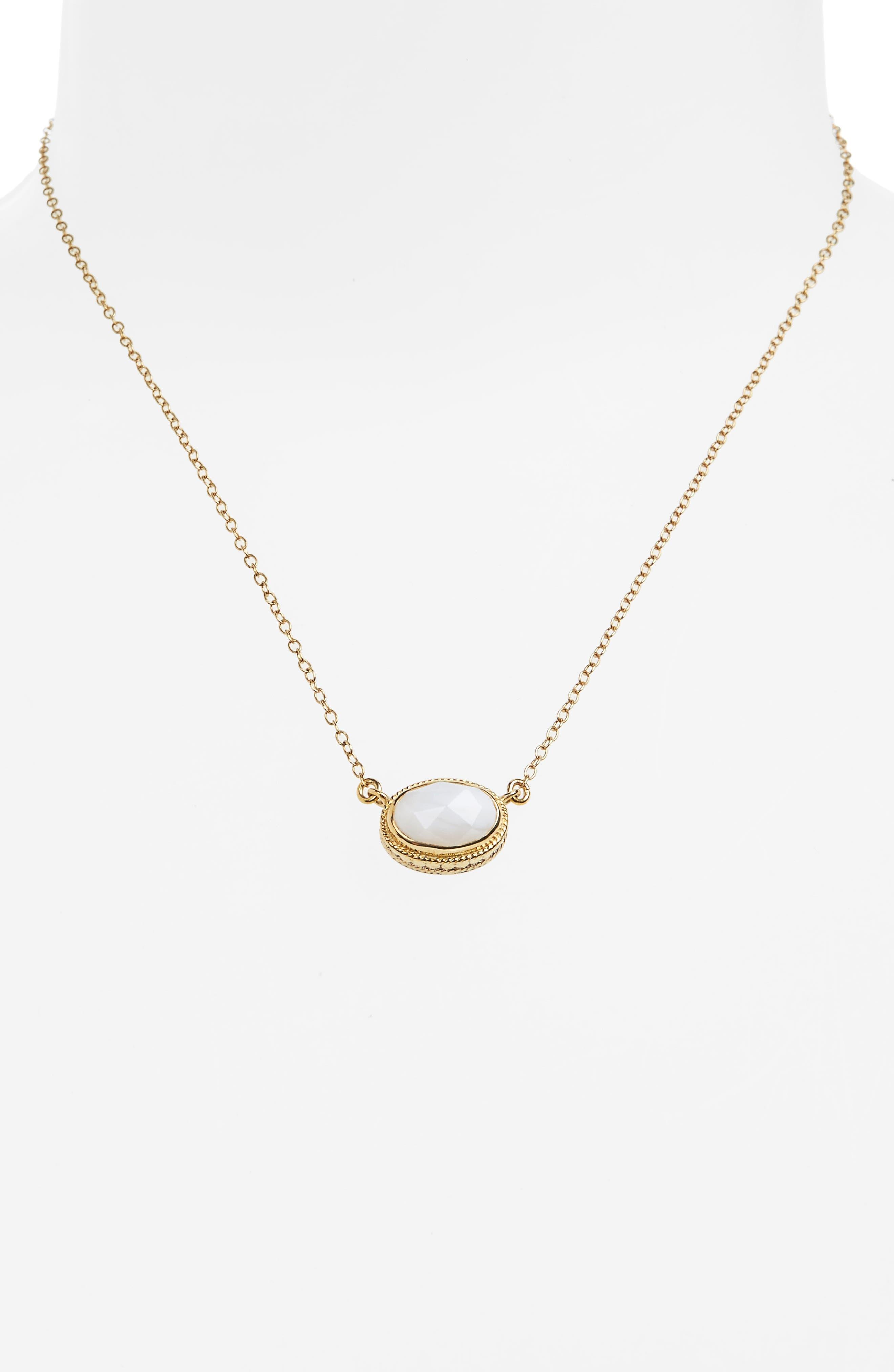 White Opal Pendant Necklace,                             Alternate thumbnail 2, color,                             710