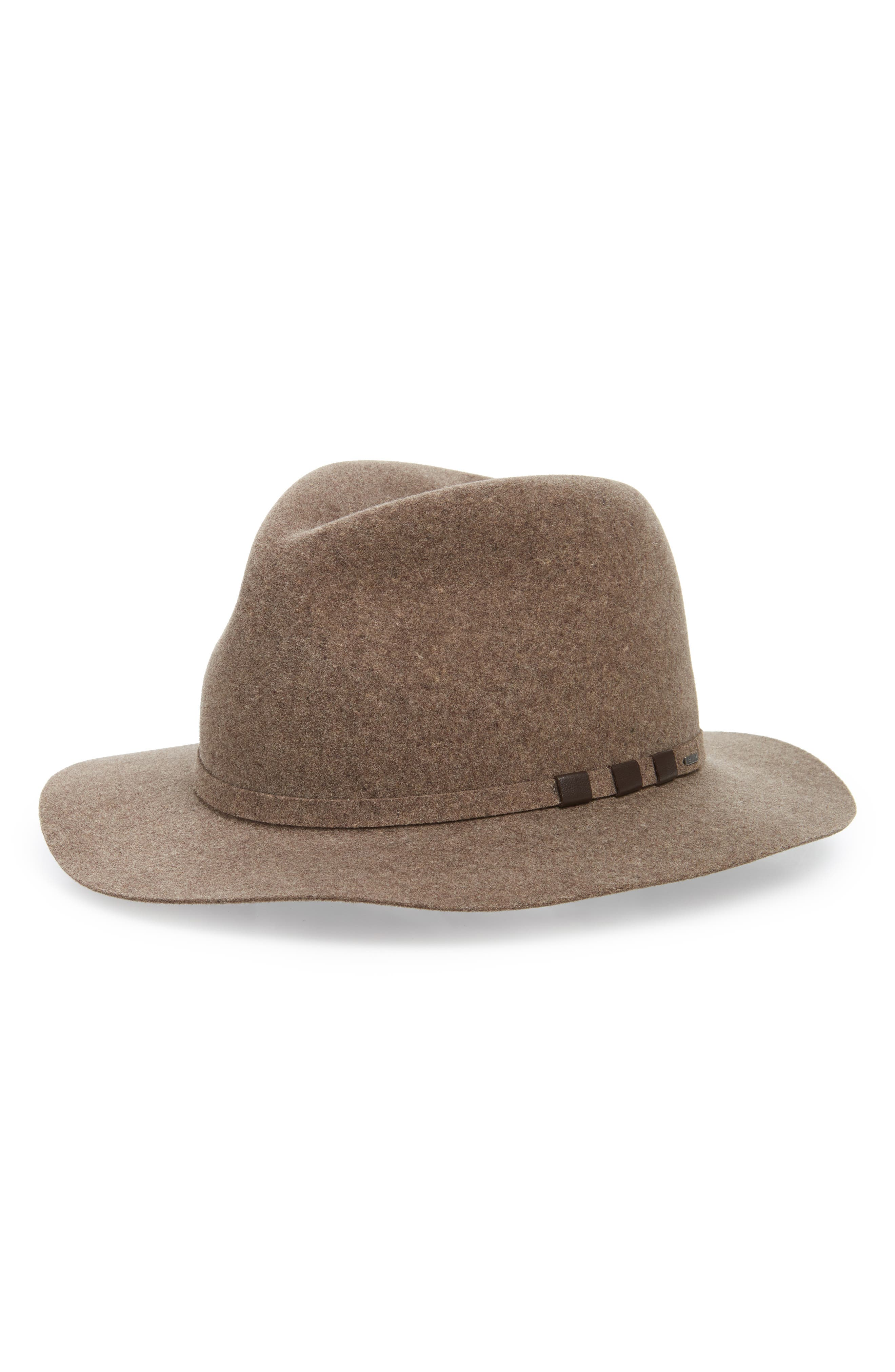 Codner Wool Fedora,                         Main,                         color, MINK
