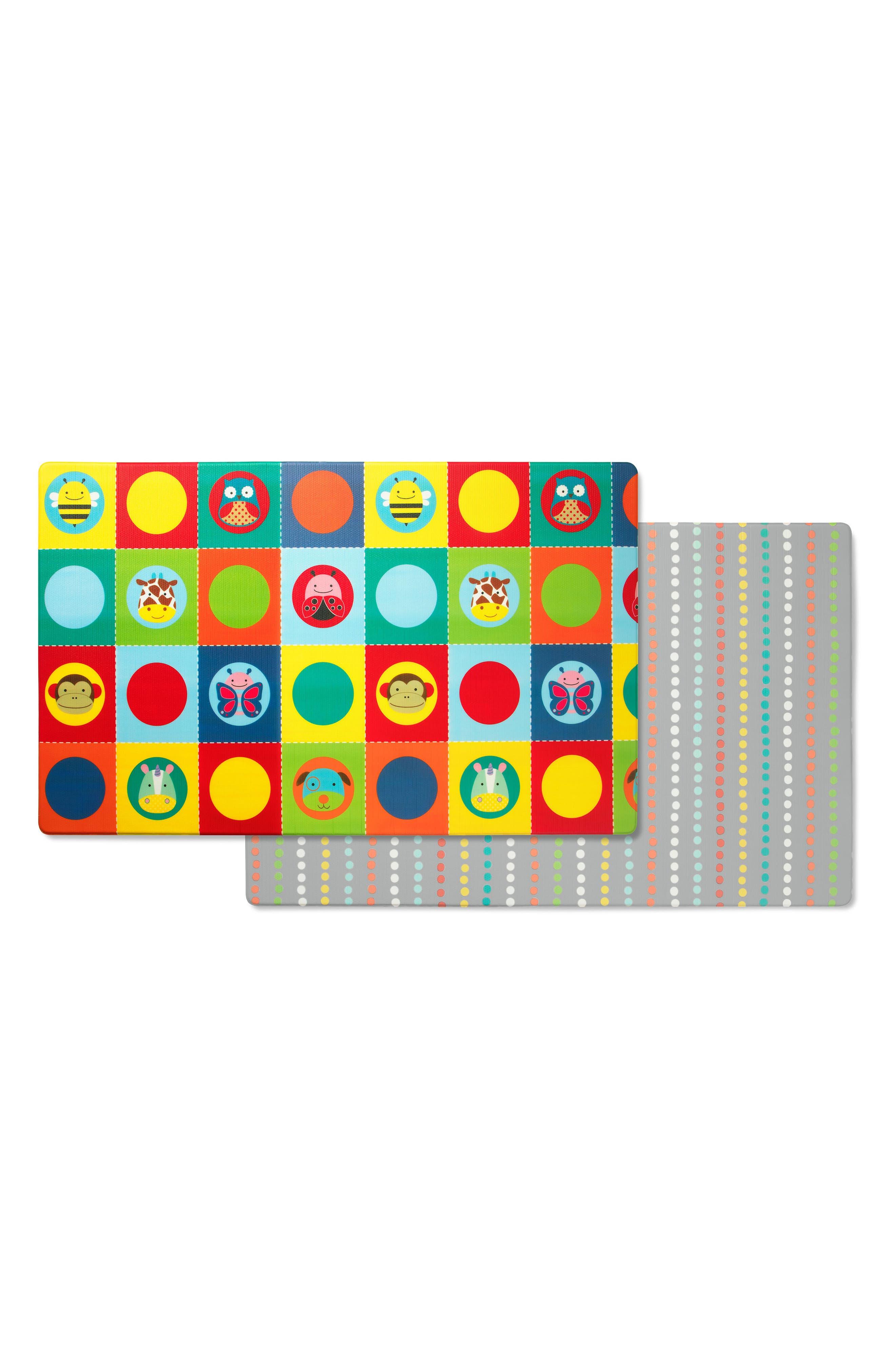 Zoo Reversible Jumbo Foam Playmat,                             Main thumbnail 1, color,                             MULTI