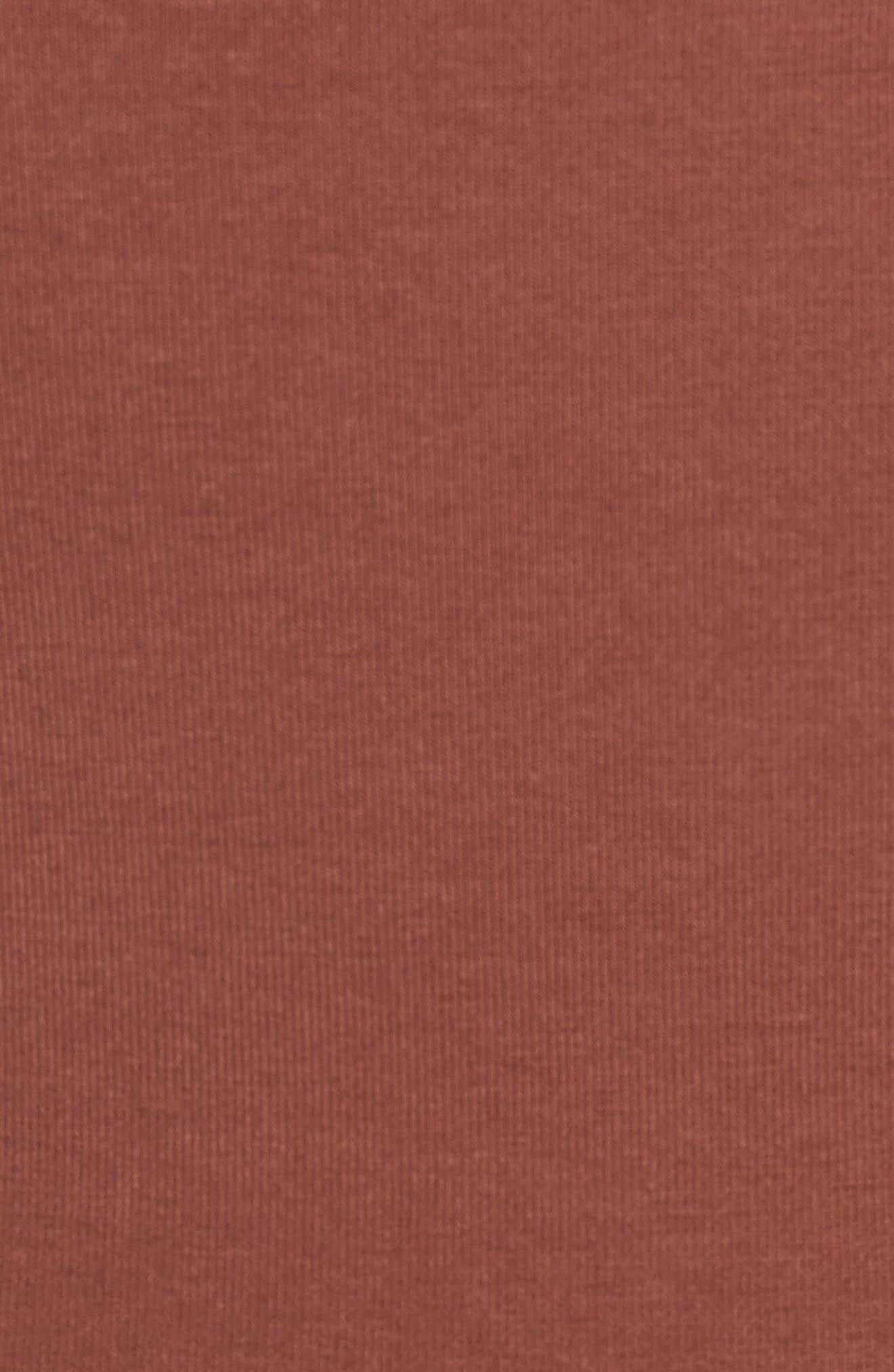 No Tuck Double Scoop Crop Camisole,                             Alternate thumbnail 6, color,                             BROWN MINK