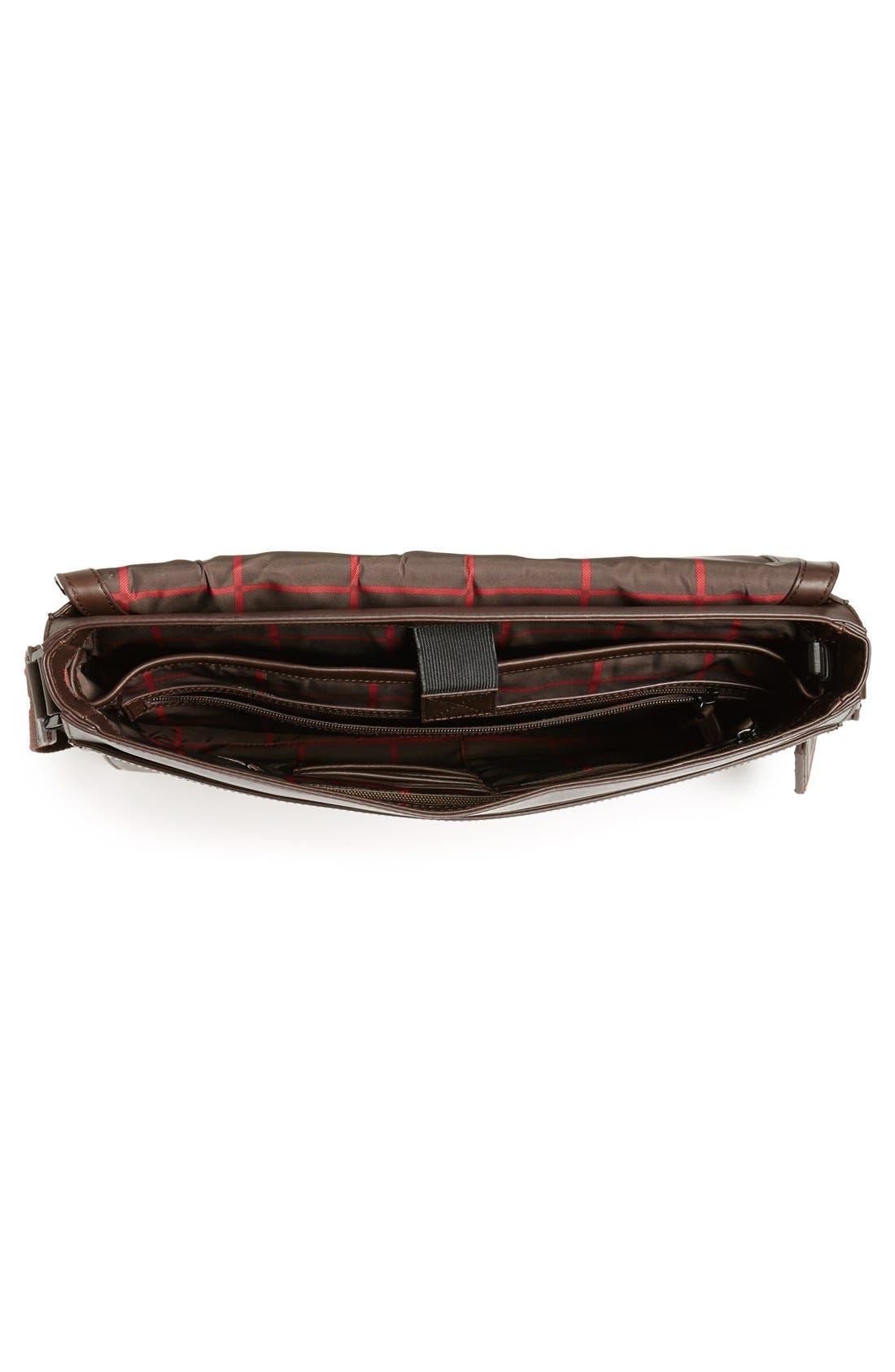 'Tolve' Leather Messenger Bag,                             Alternate thumbnail 4, color,                             210