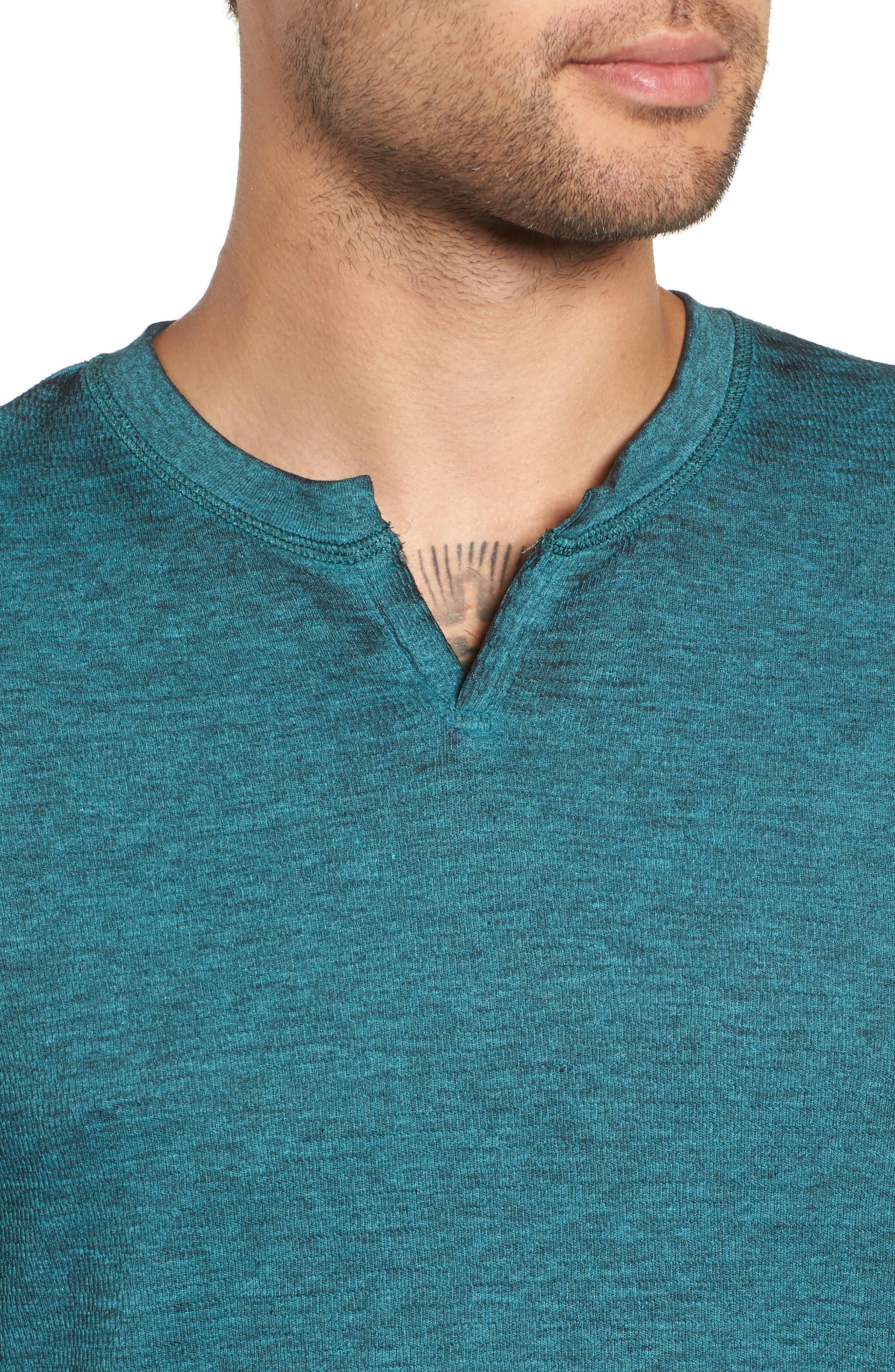 Notch Neck Thermal T-Shirt,                             Alternate thumbnail 27, color,