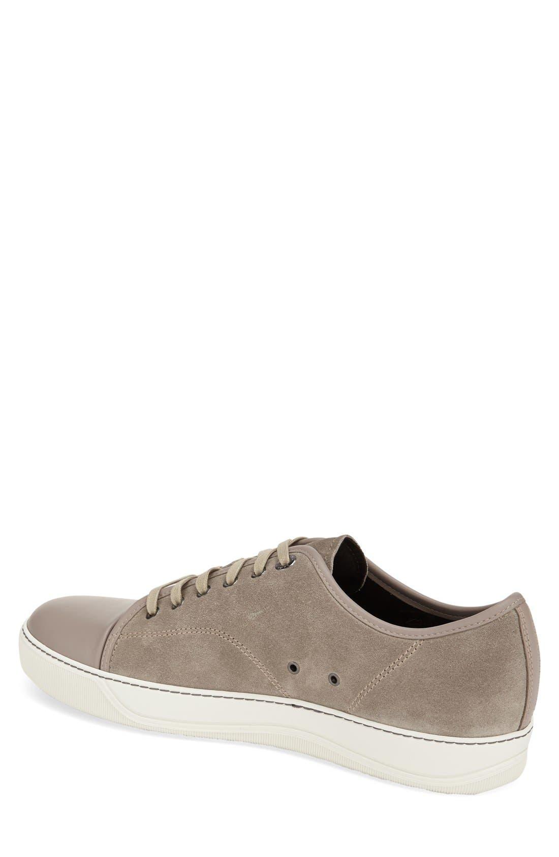 Low Top Sneaker,                             Alternate thumbnail 2, color,                             BEIGE SUEDE