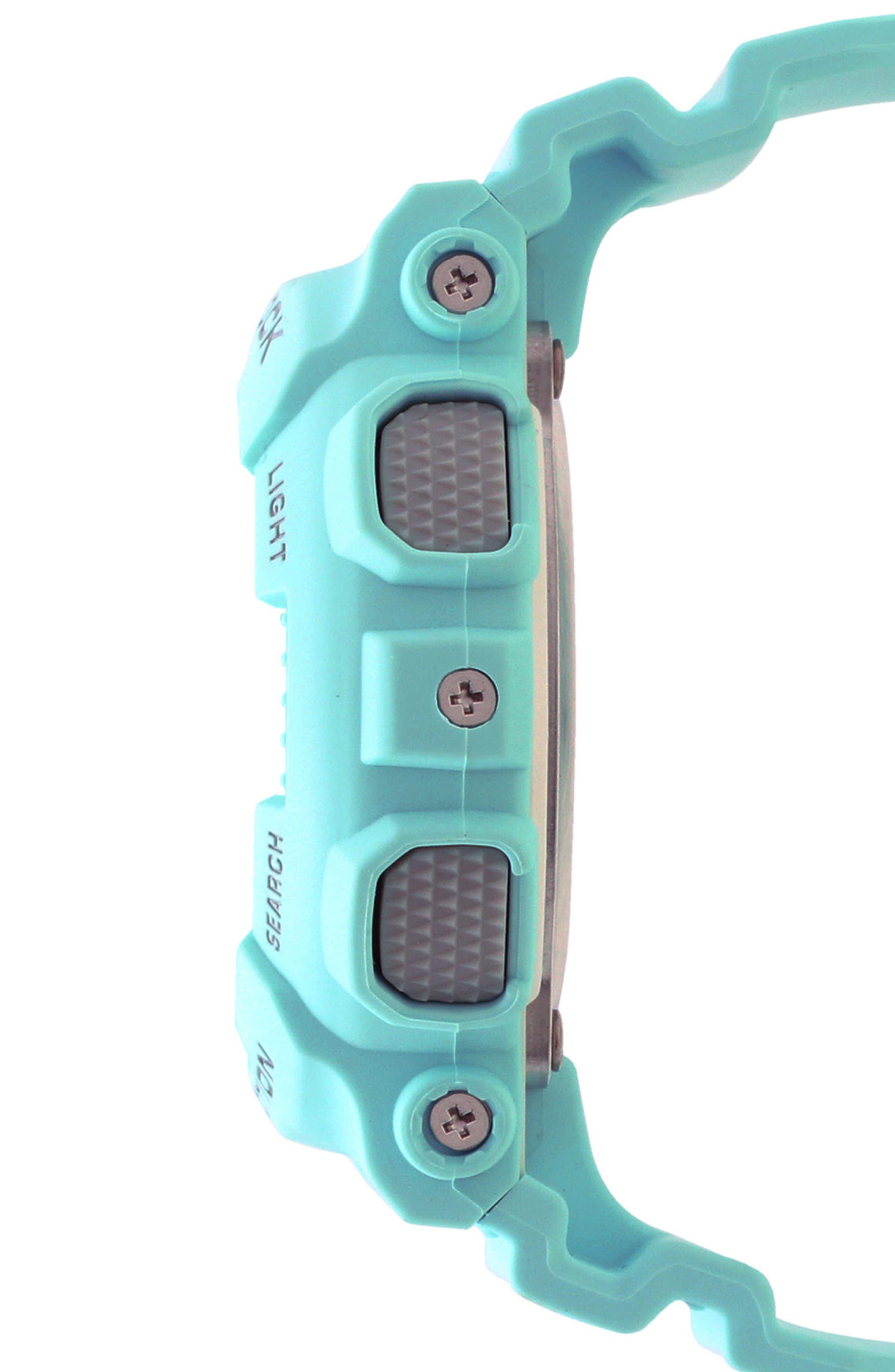 S-Series Resin Ana-Digi Watch, 46mm,                             Alternate thumbnail 3, color,                             BLUE