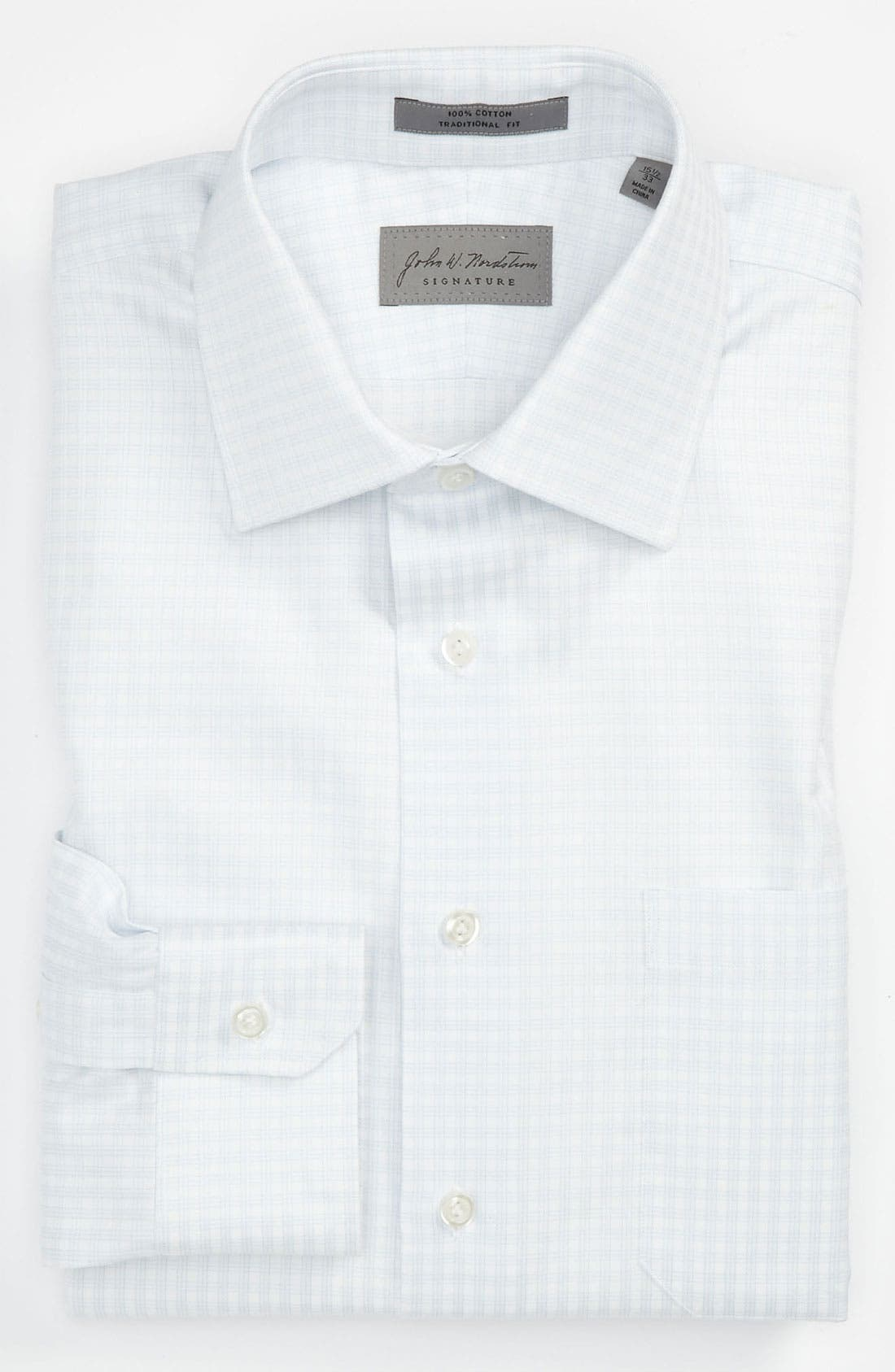 Traditional Fit Dress Shirt, Main, color, 100