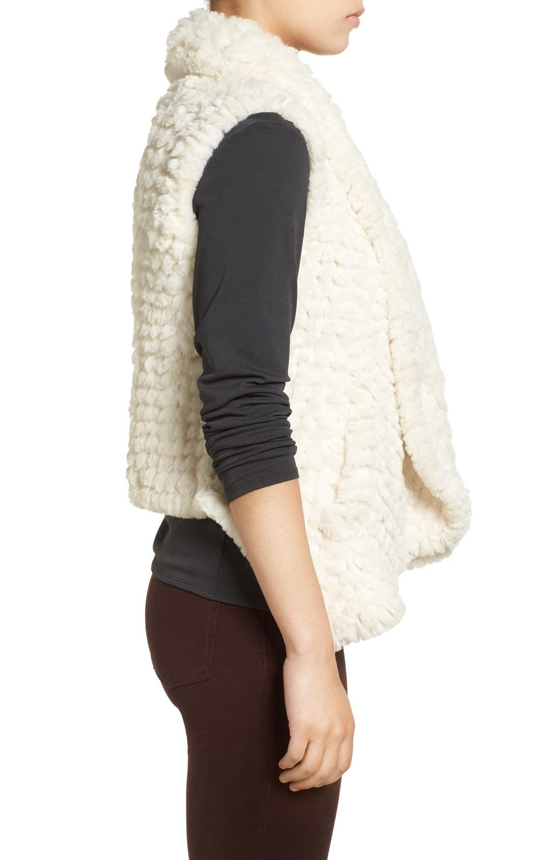 Faux Fur Vest,                             Alternate thumbnail 6, color,