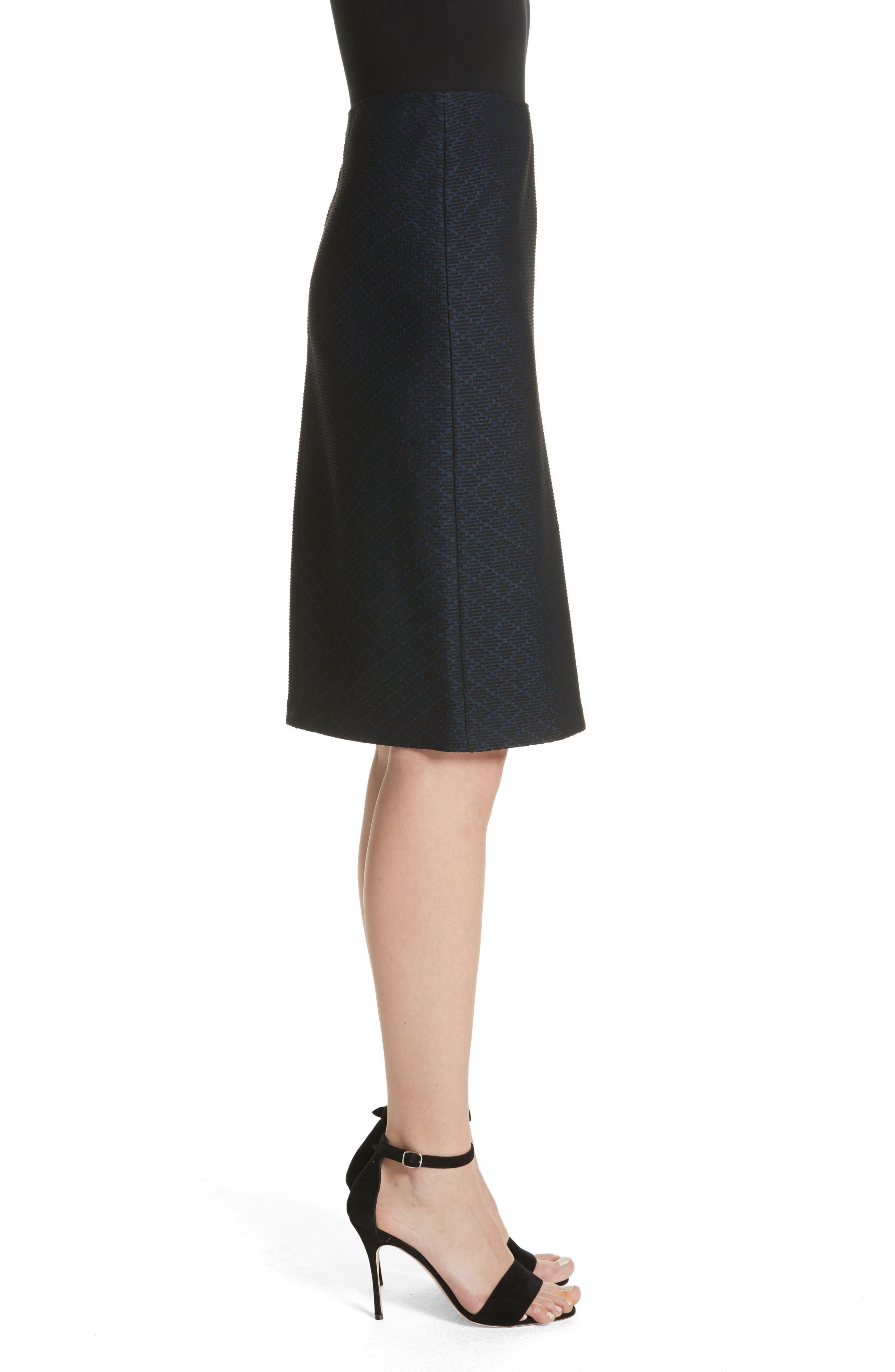 Diamond Knit Jacquard Pencil Skirt,                             Alternate thumbnail 3, color,                             400
