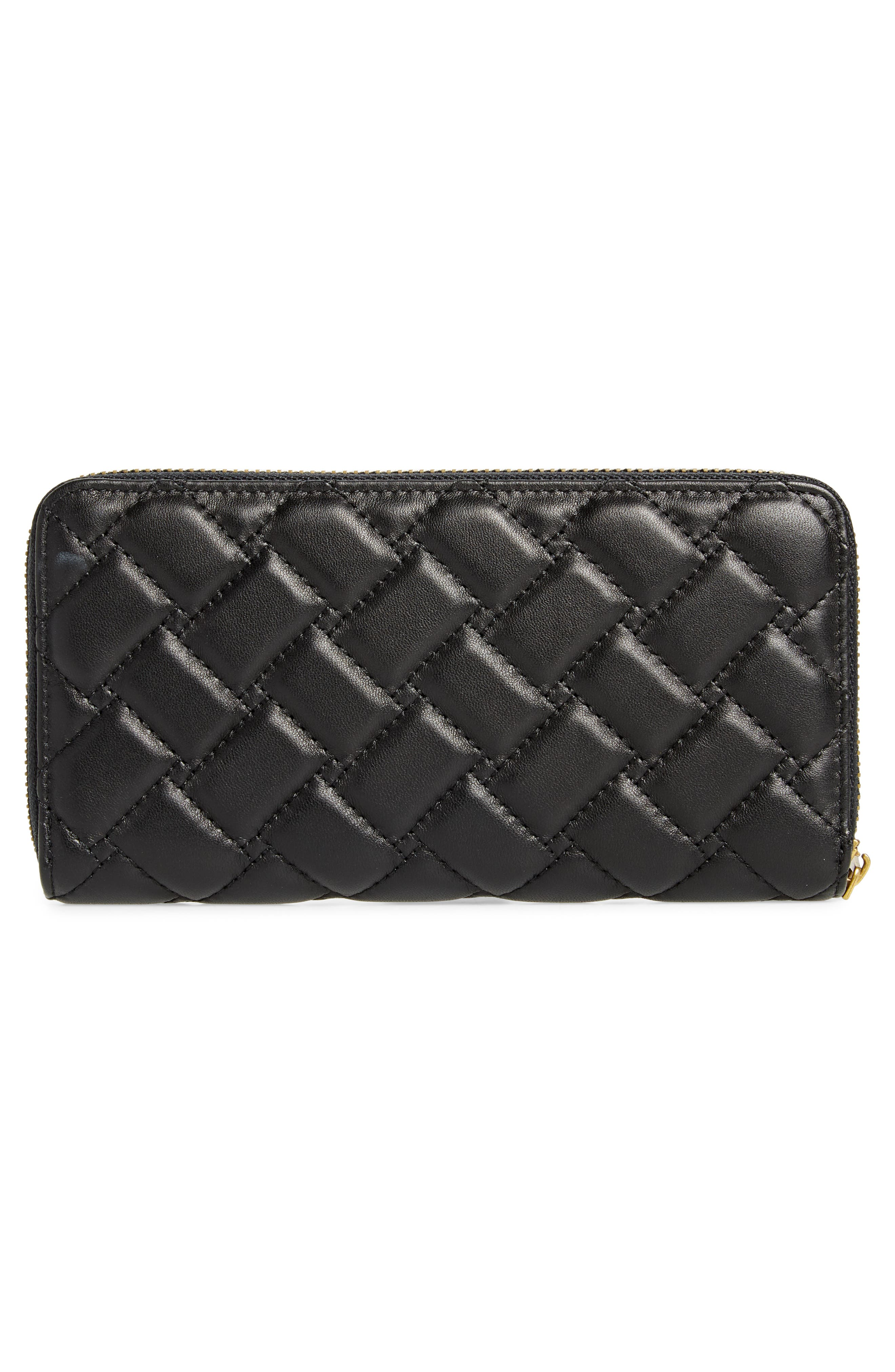 Eagle Leather Zip Around Wallet,                             Alternate thumbnail 3, color,                             001