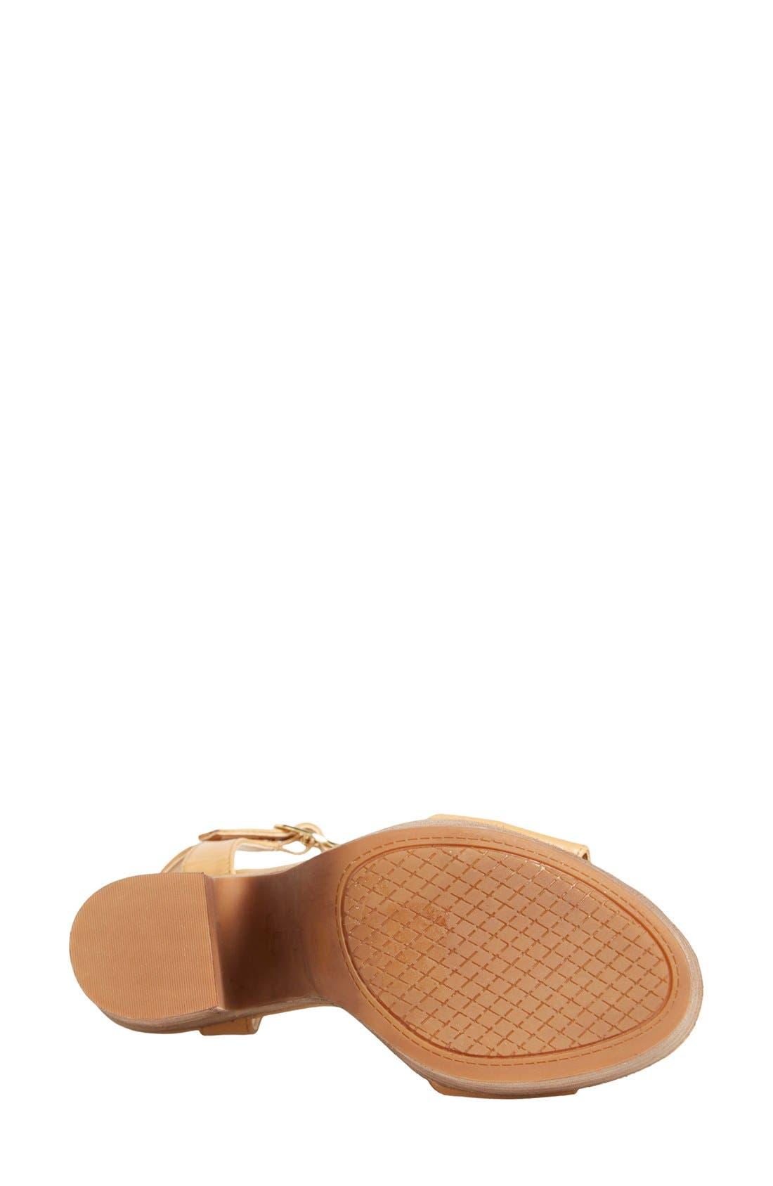 'Whirl' Platform Sandal,                             Alternate thumbnail 4, color,                             281