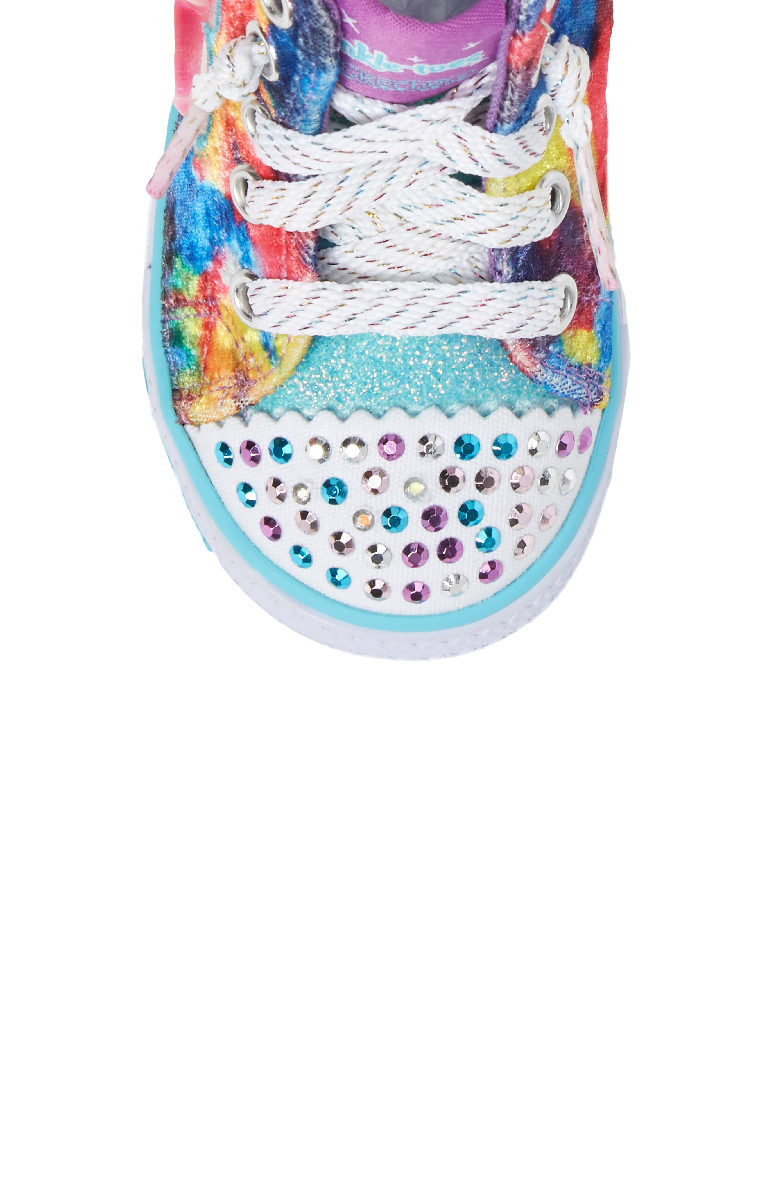Twinkle Toes Shuffles Light-Up High Top Sneaker,                             Alternate thumbnail 9, color,