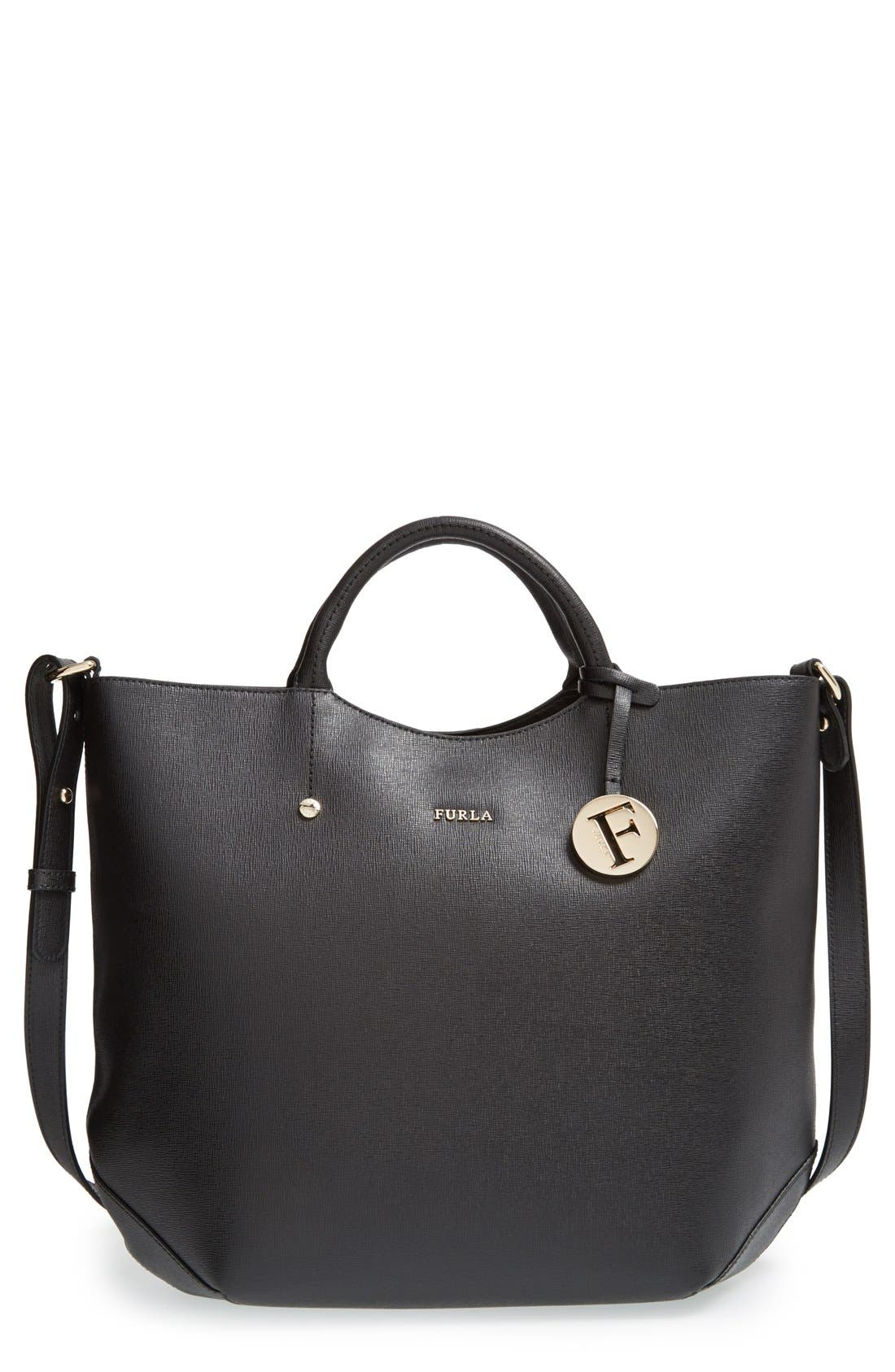'Alissa - Large' Saffiano Leather Tote, Main, color, 001