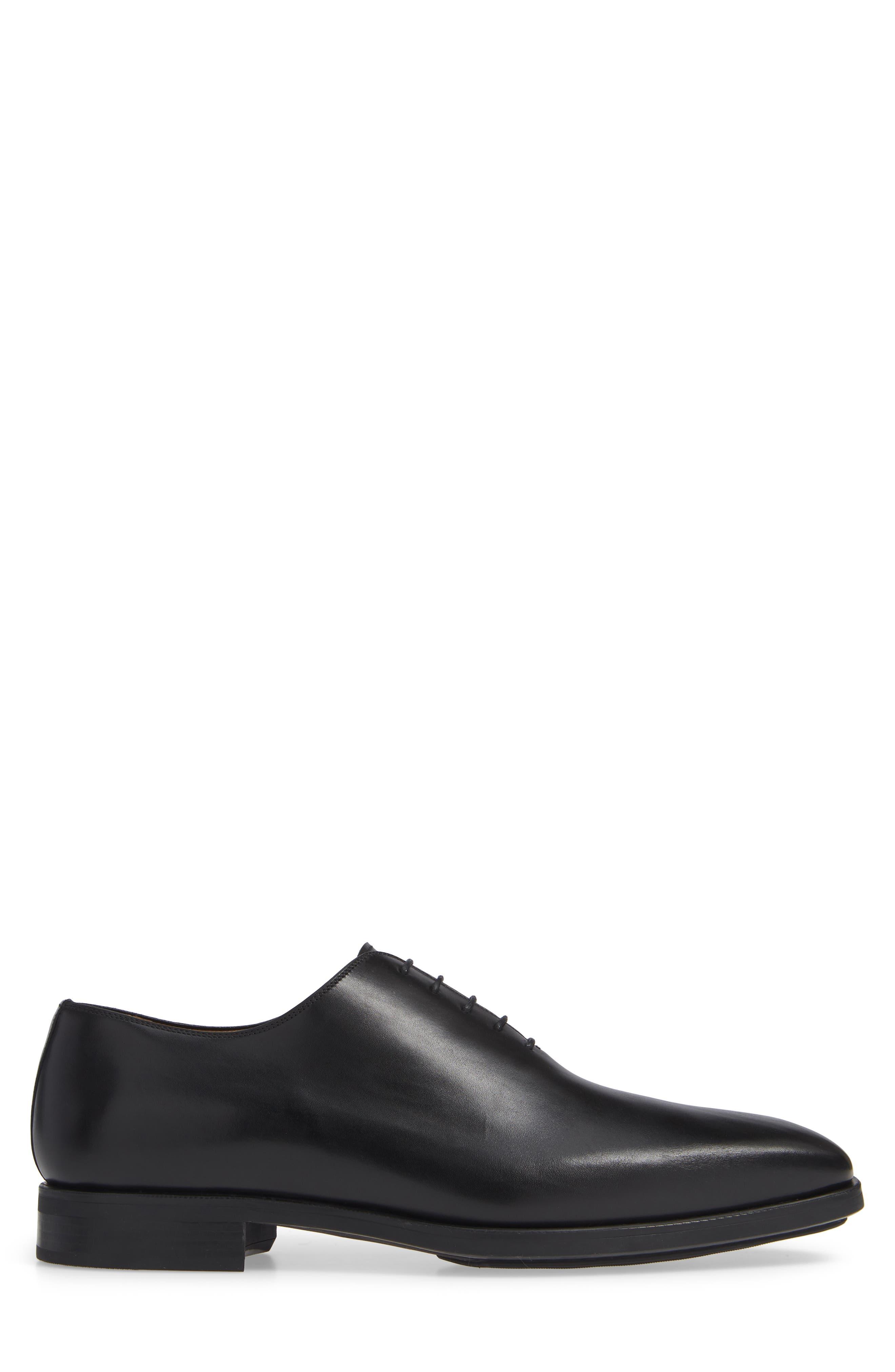 Ryder Plain Toe Oxford,                             Alternate thumbnail 3, color,                             BLACK LEATHER