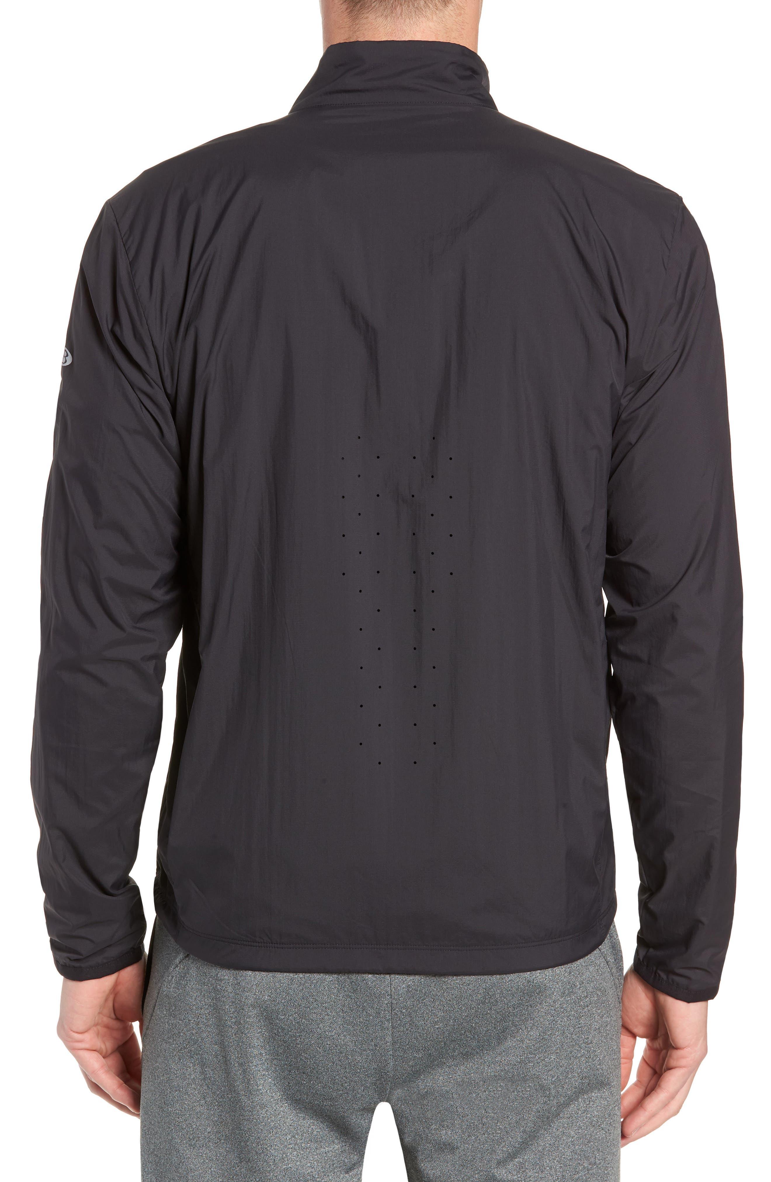 Cool-Lite<sup>™</sup> Incline Windbreaker Jacket,                             Alternate thumbnail 2, color,                             BLACK