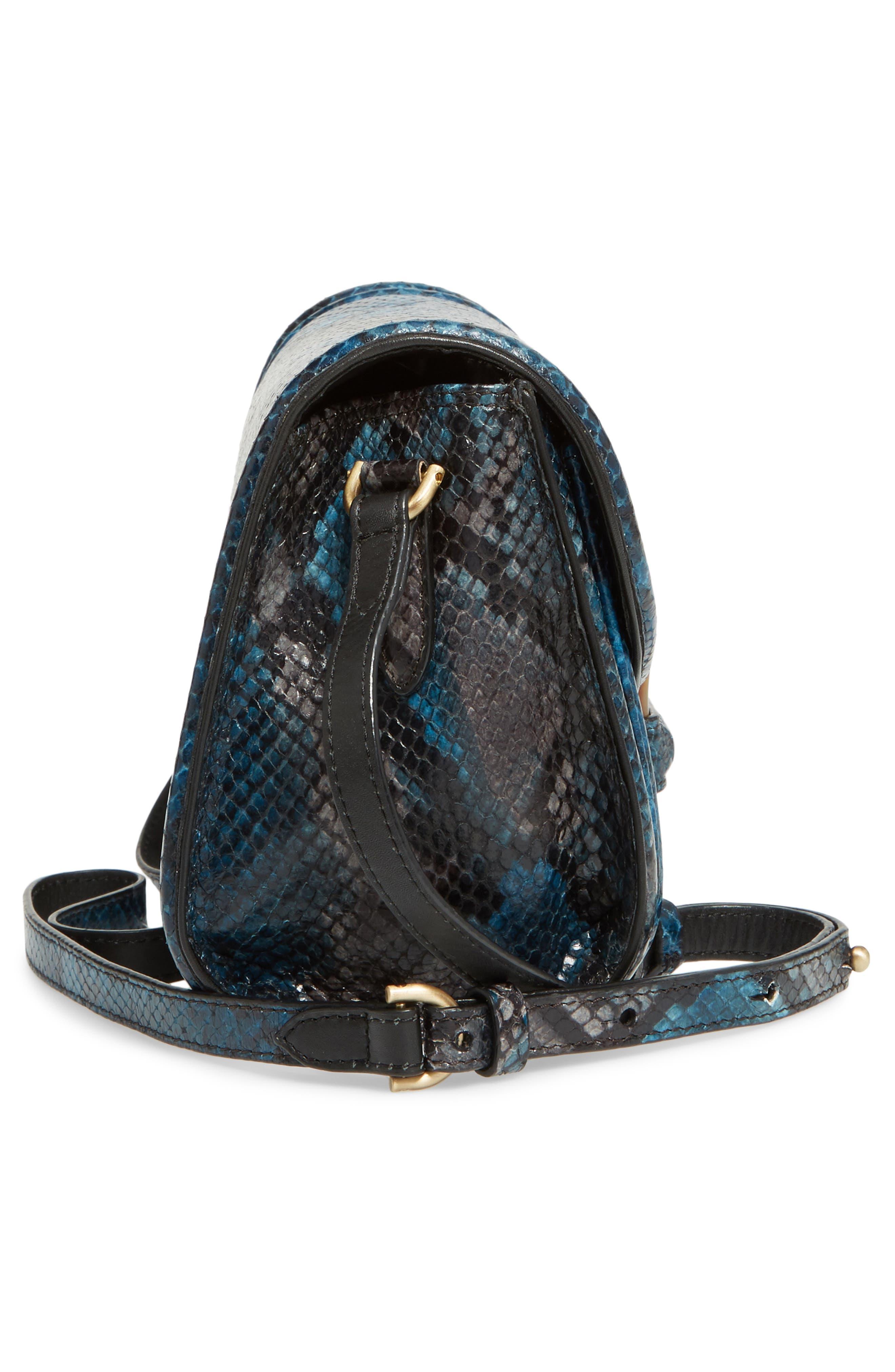 Snake Embossed Crossbody Bag,                             Alternate thumbnail 5, color,