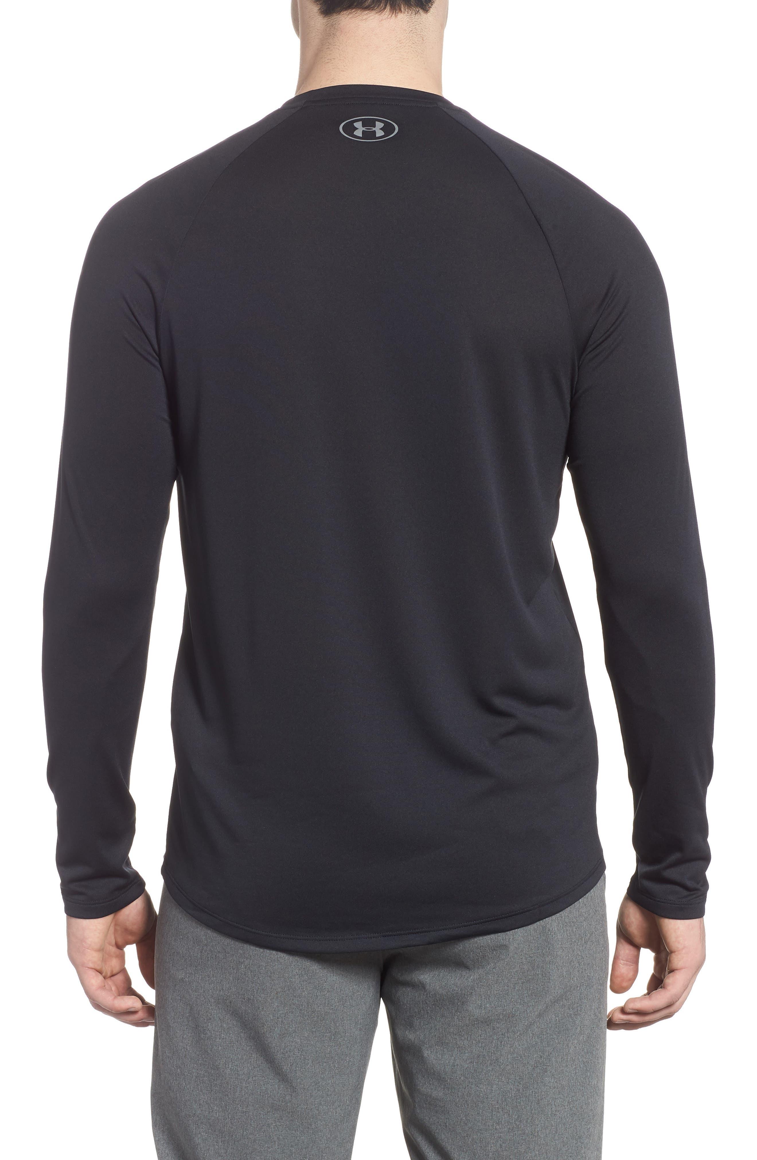 Performance Tech Long Sleeve Shirt,                             Alternate thumbnail 2, color,                             BLACK/ STEEL