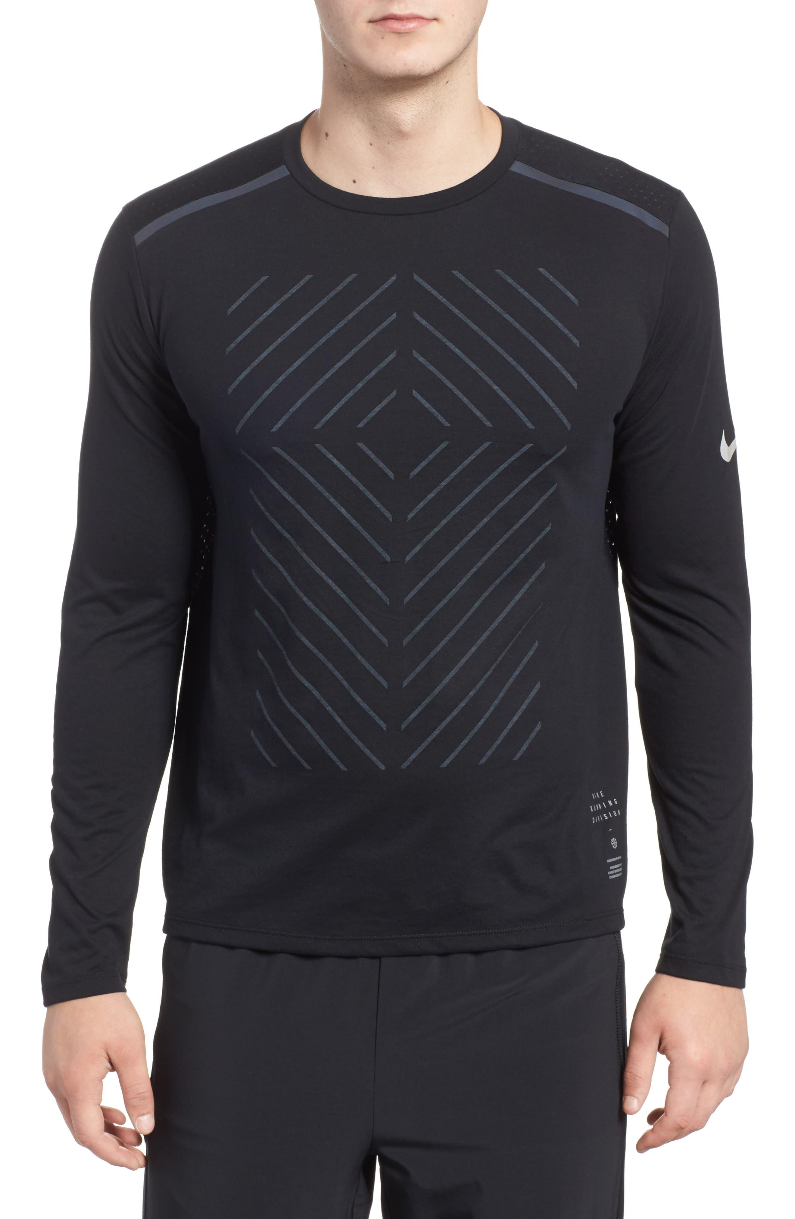 Tailwind Long Sleeve Running T-Shirt,                             Main thumbnail 1, color,                             010