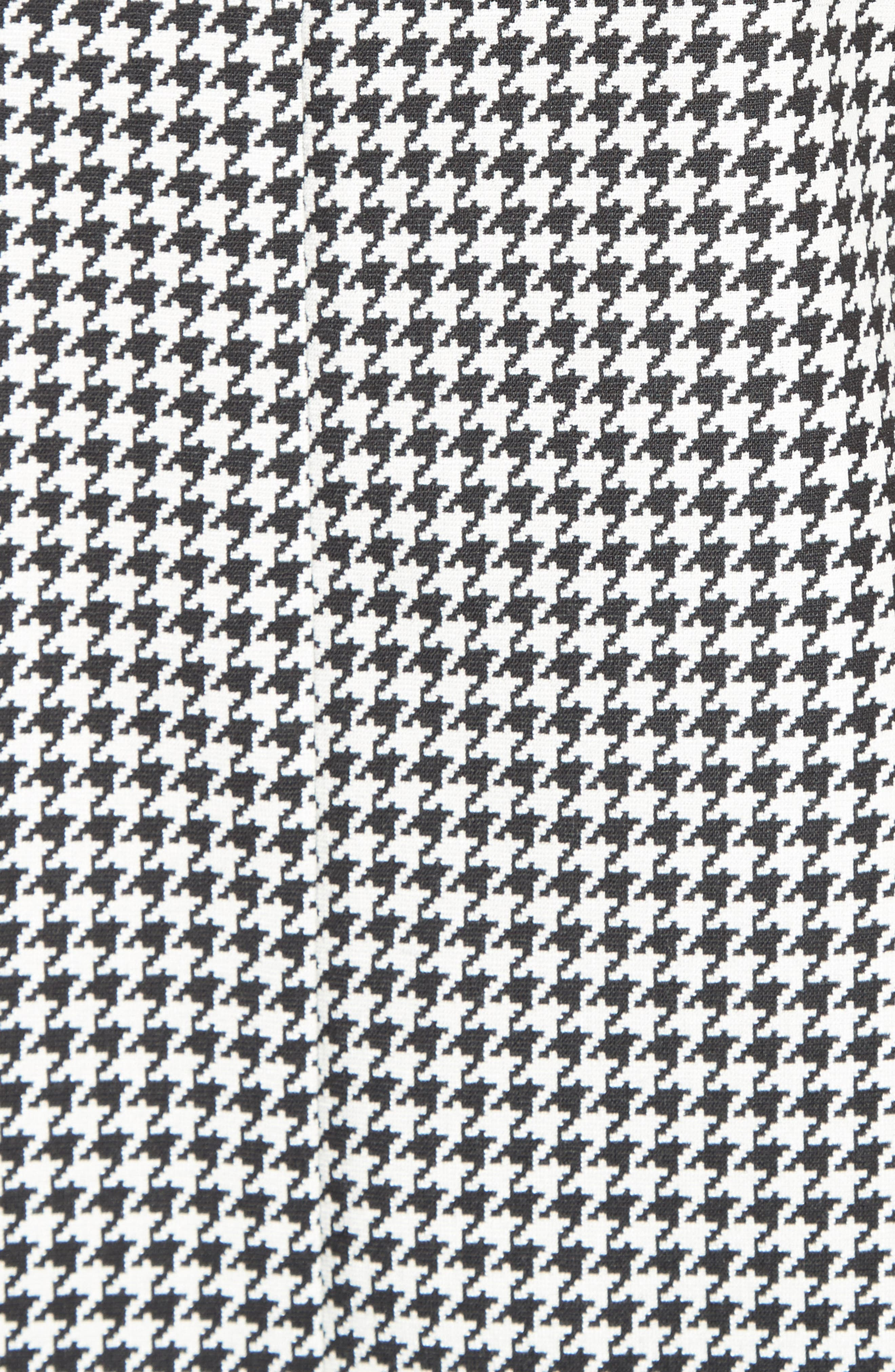 Ares Wool Blend Houndstooth Top,                             Alternate thumbnail 5, color,                             001