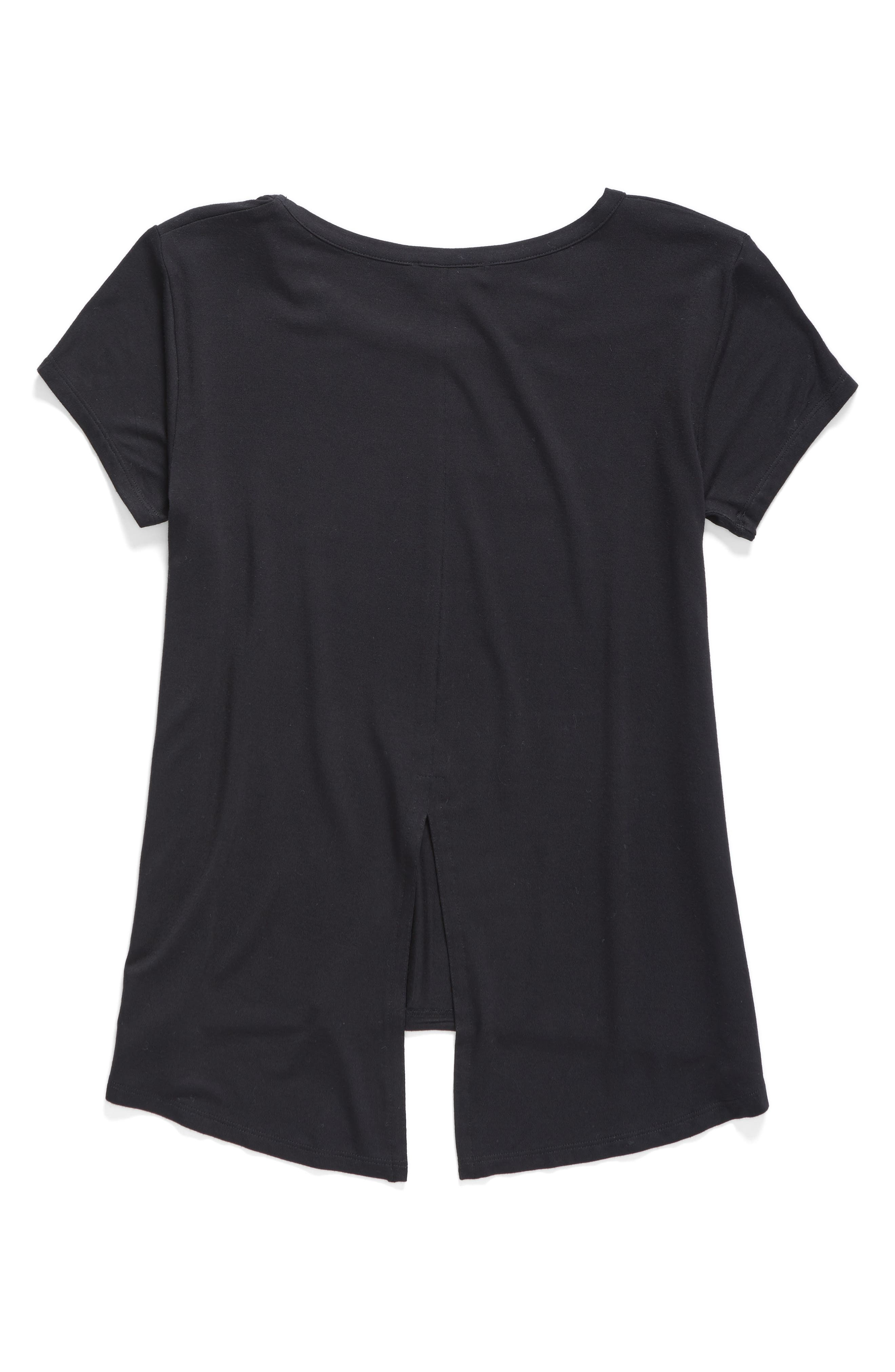 'Living' Graphic Envelope Back Tee,                             Main thumbnail 10, color,