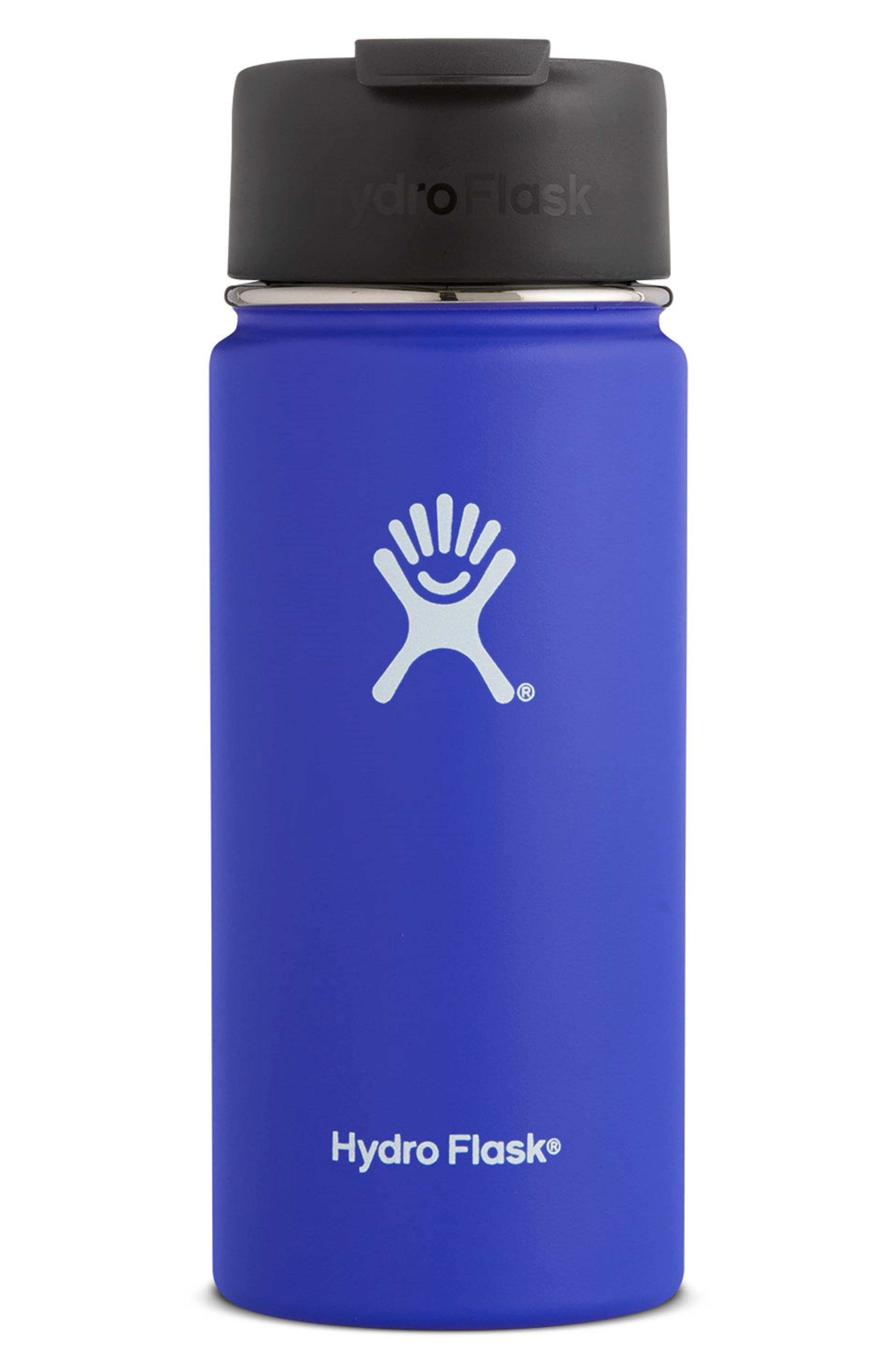 16-Ounce Wide Mouth Coffee Thermos,                         Main,                         color, COBALT
