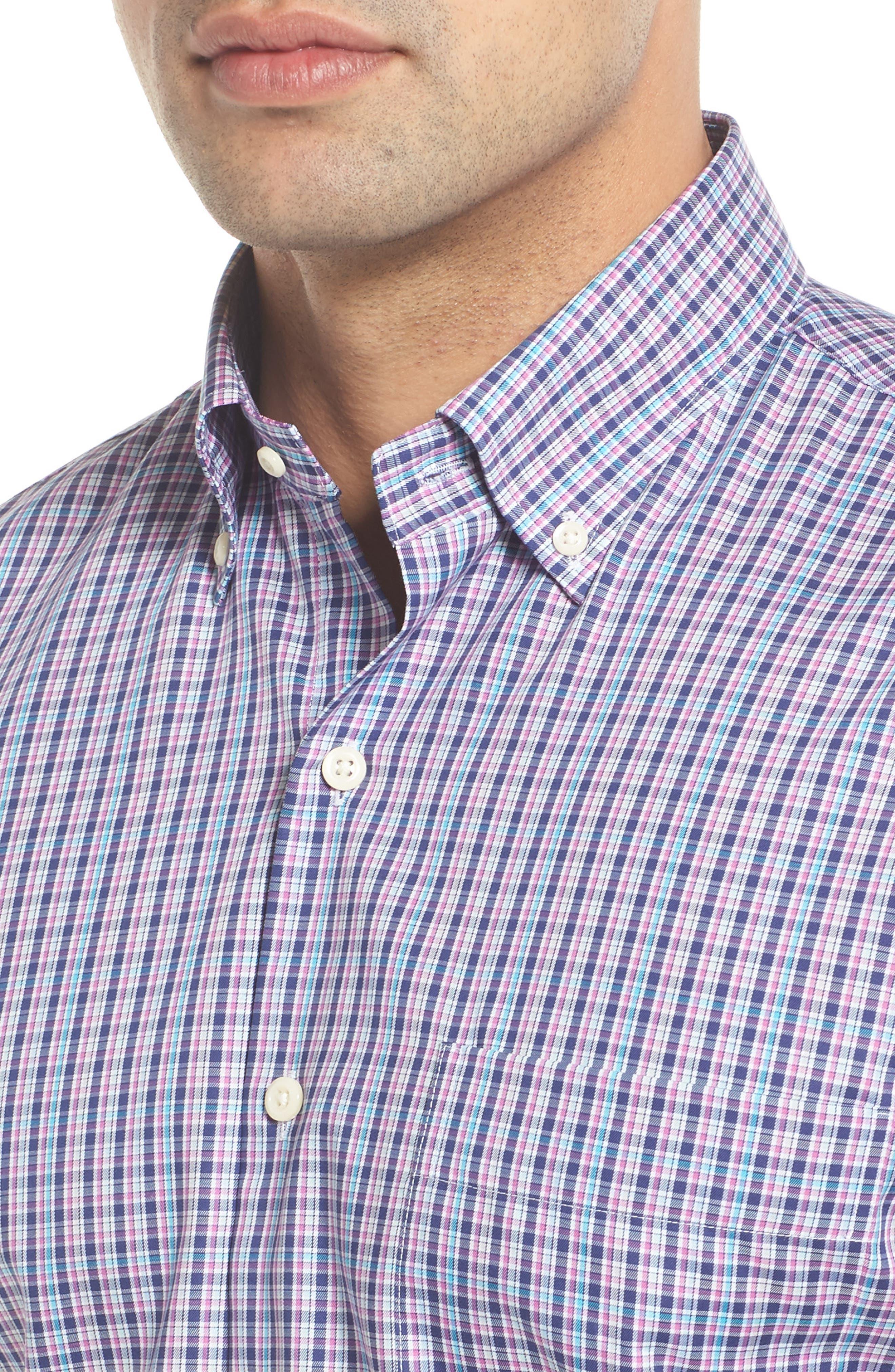 PETER MILLAR,                             Crown Ease Kaci Plaid Sport Shirt,                             Alternate thumbnail 4, color,                             400