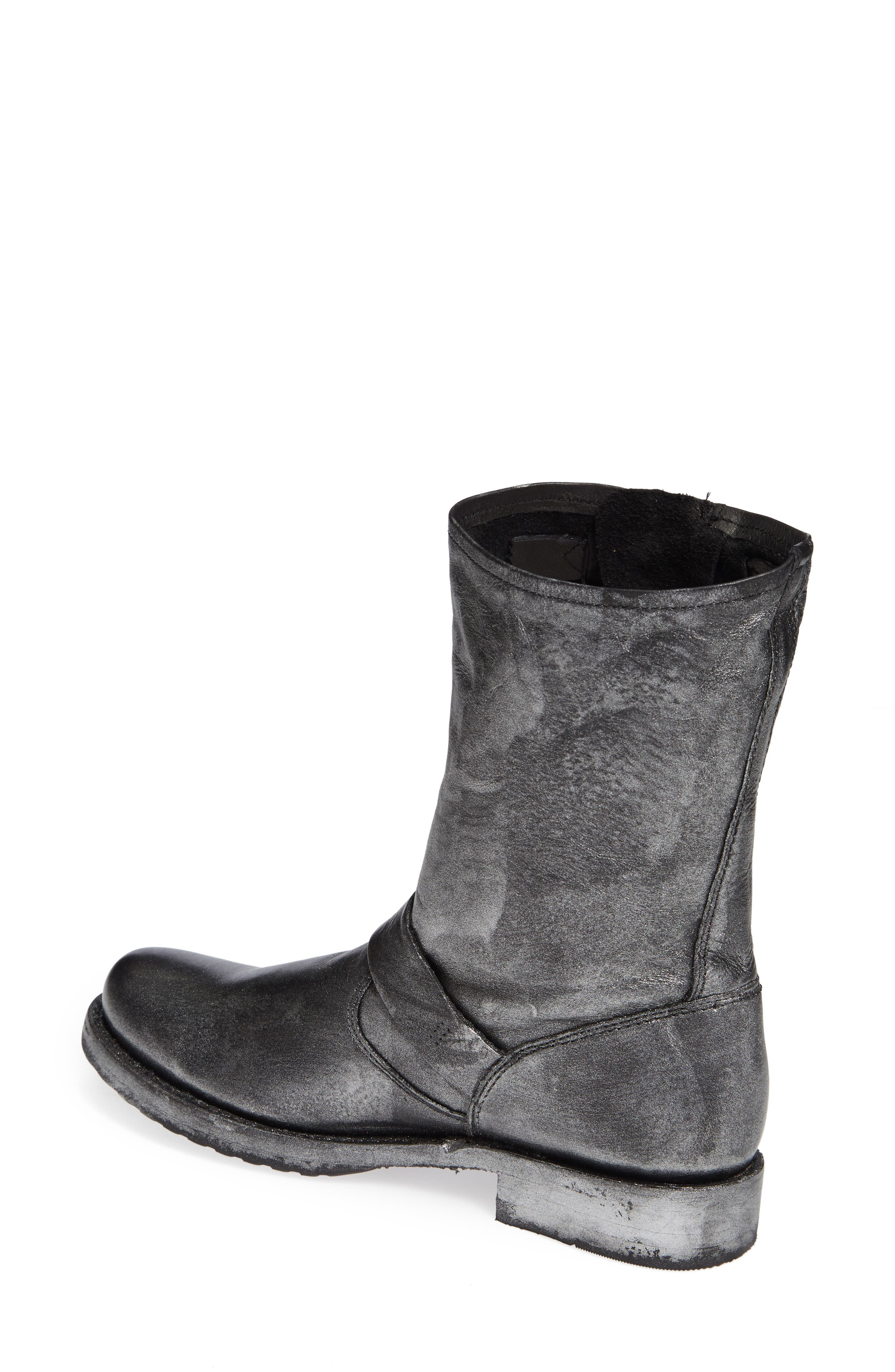 'Veronica Short' Slouchy Boot,                             Alternate thumbnail 2, color,                             002