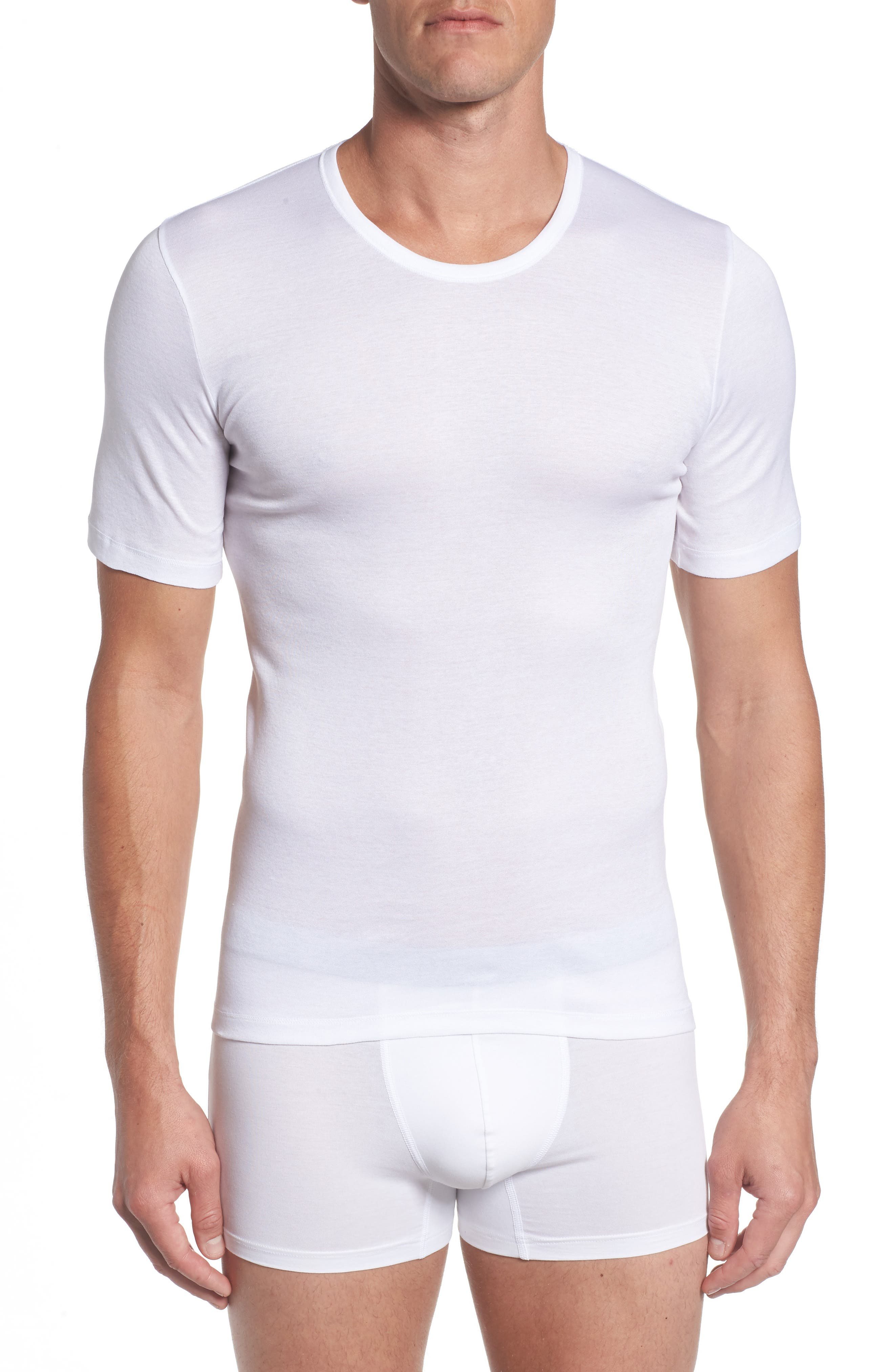 Cotton Pure Crewneck T-Shirt,                             Main thumbnail 1, color,                             100