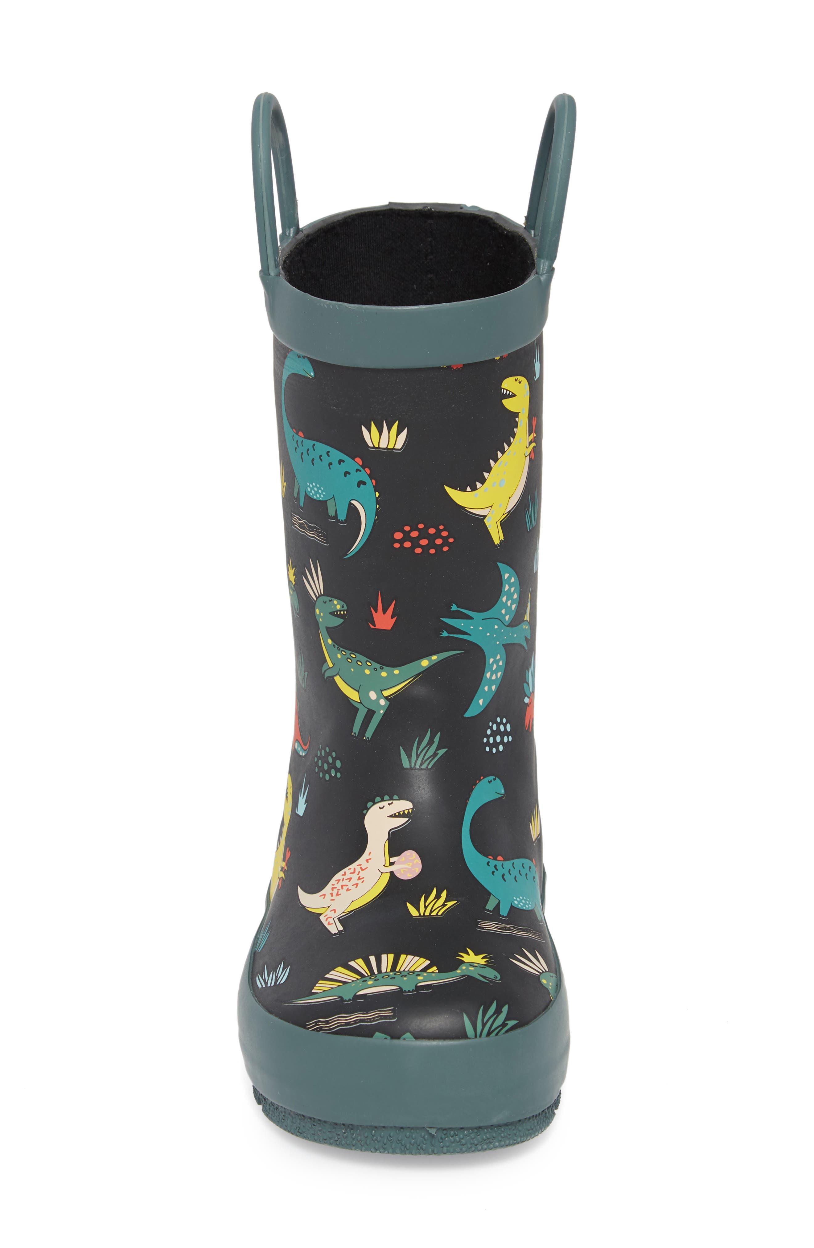 Jurassic Jumble Rain Boot,                             Alternate thumbnail 4, color,                             001