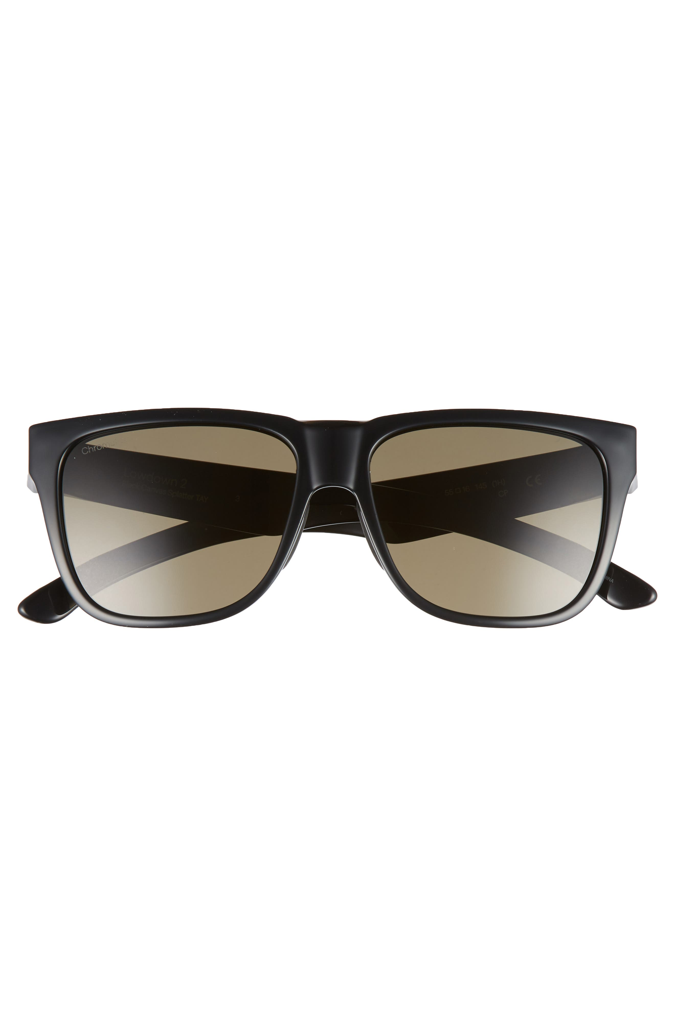 Outlier 2 57mm ChromaPop<sup>™</sup> Sunglasses,                             Alternate thumbnail 2, color,                             MATTE BLACK/ GREY GREEN