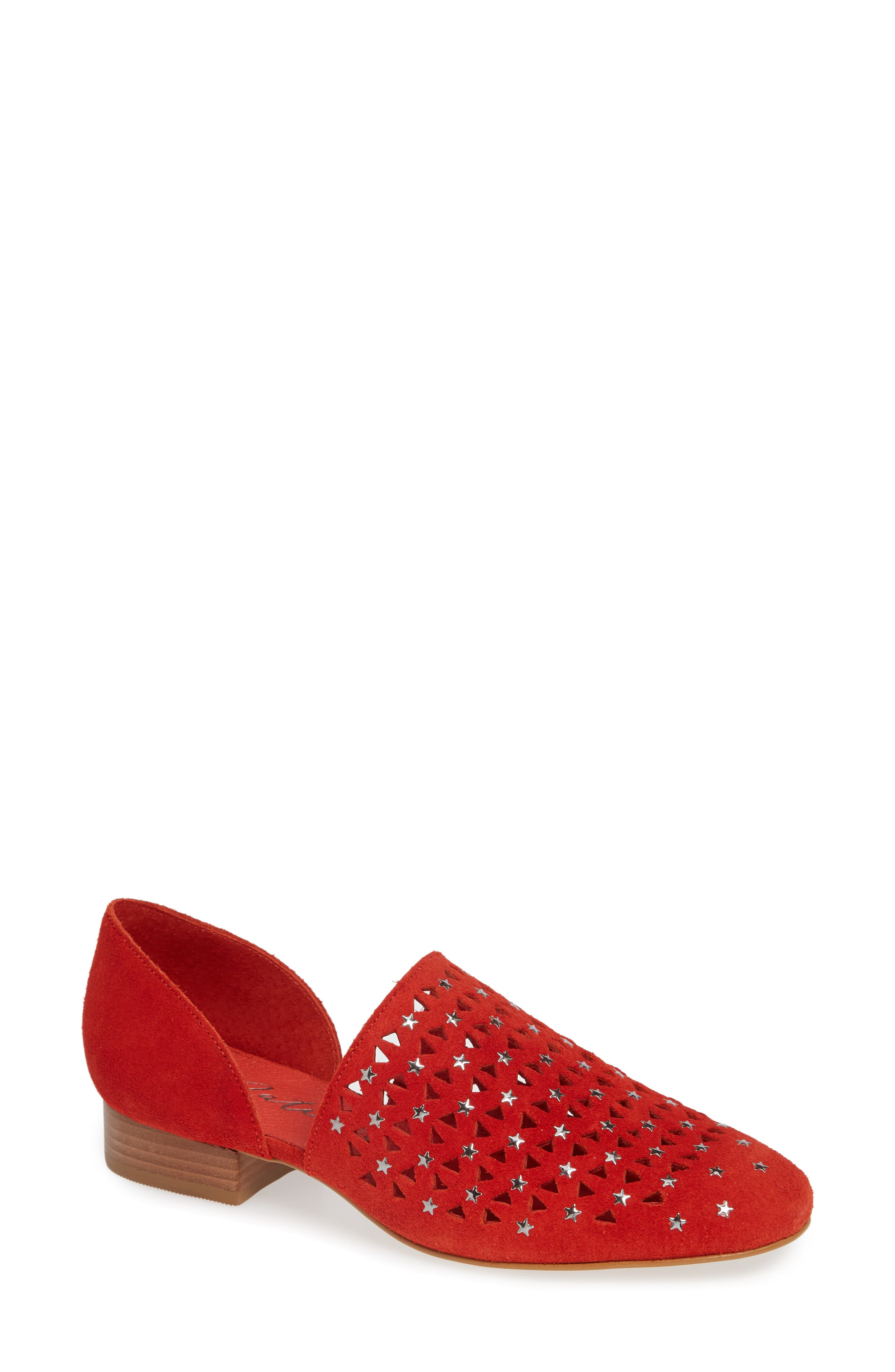 MATISSE Constellation D'Orsay Flat in Fire Suede