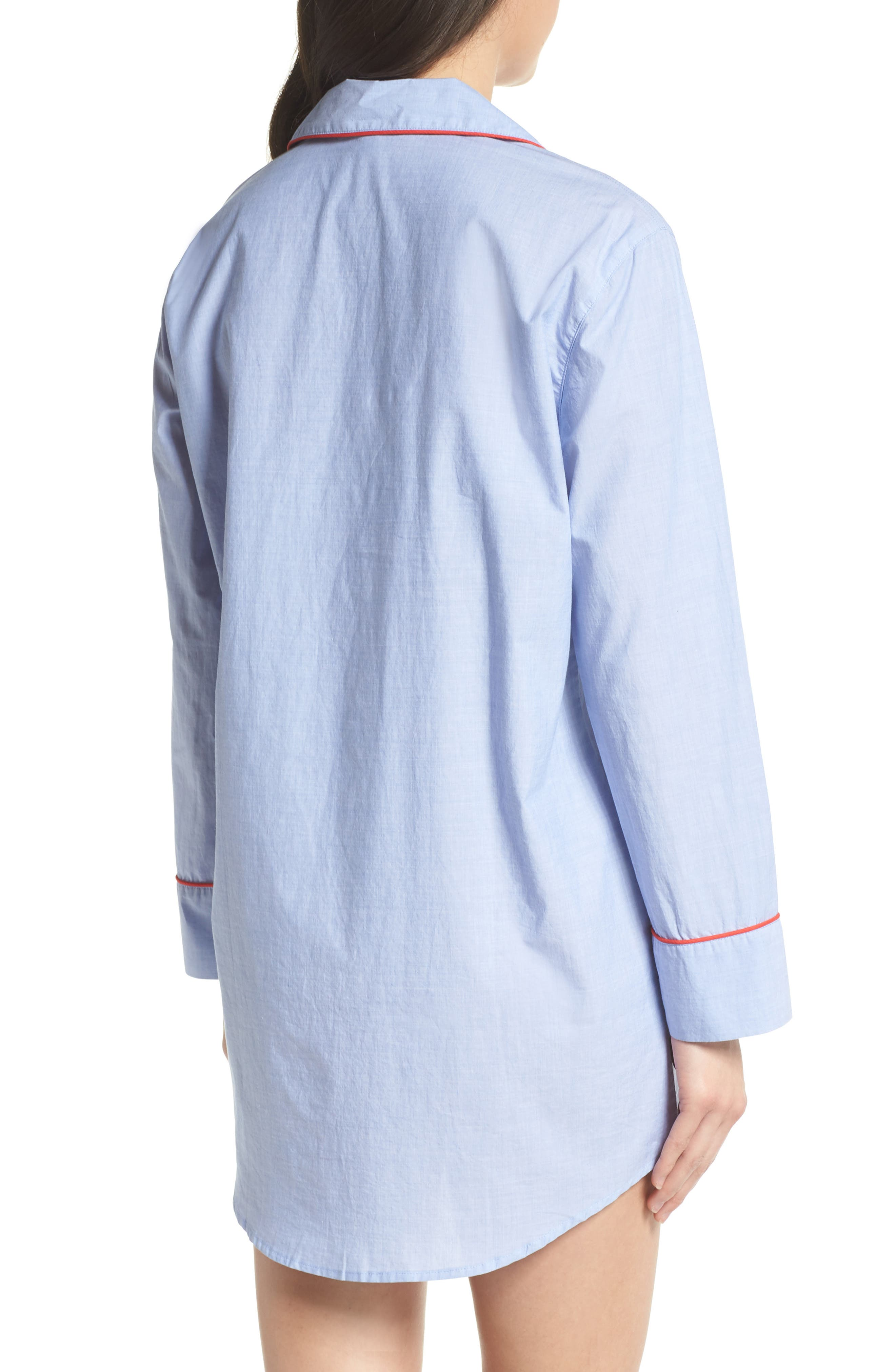 Woven Nightshirt,                             Alternate thumbnail 2, color,