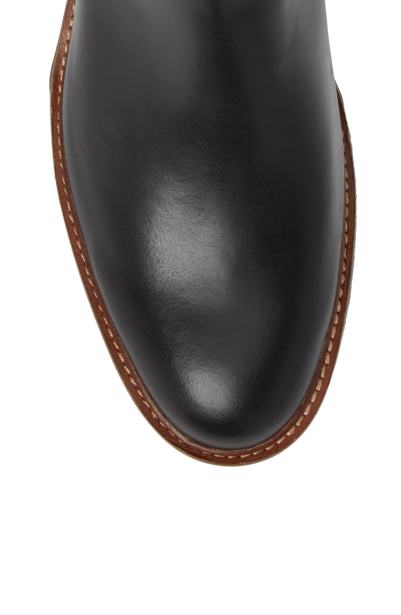 Leather Chelsea Boot,                             Alternate thumbnail 5, color,                             001