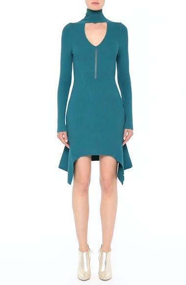 Collection Knit Keyhole Turtleneck Dress, video thumbnail