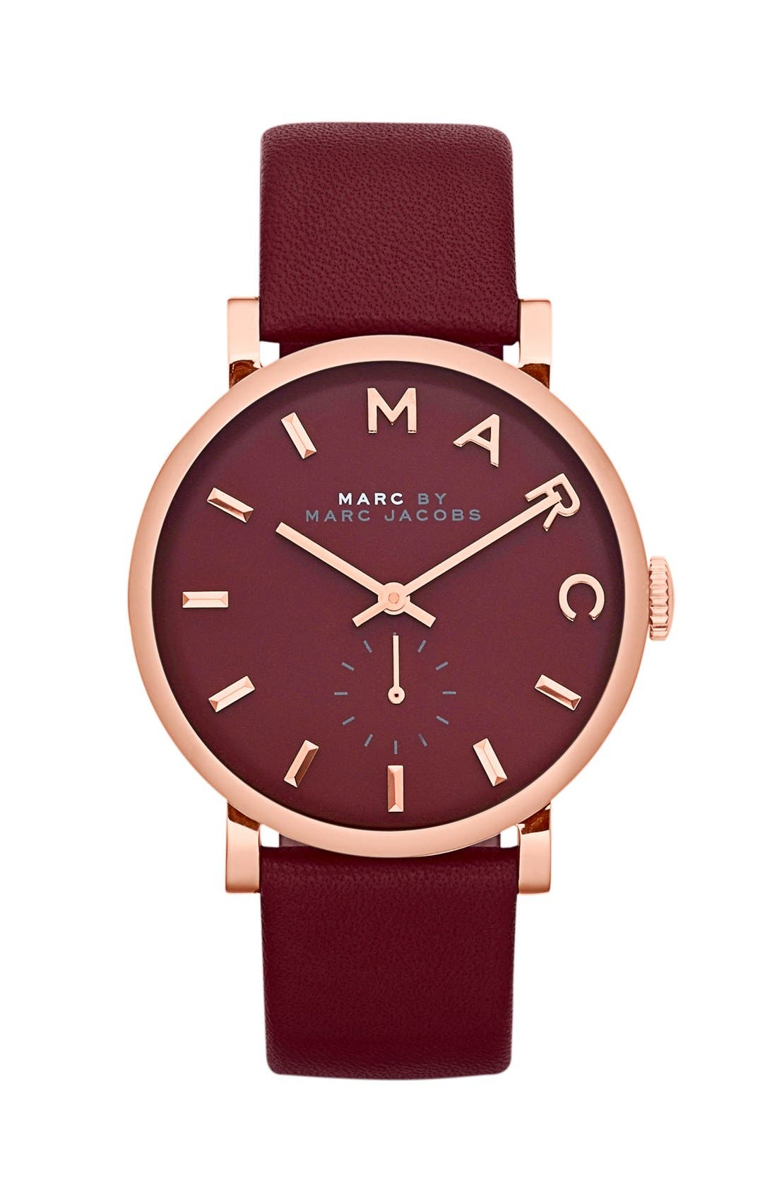 'Baker' Leather Strap Watch, 37mm,                             Main thumbnail 10, color,