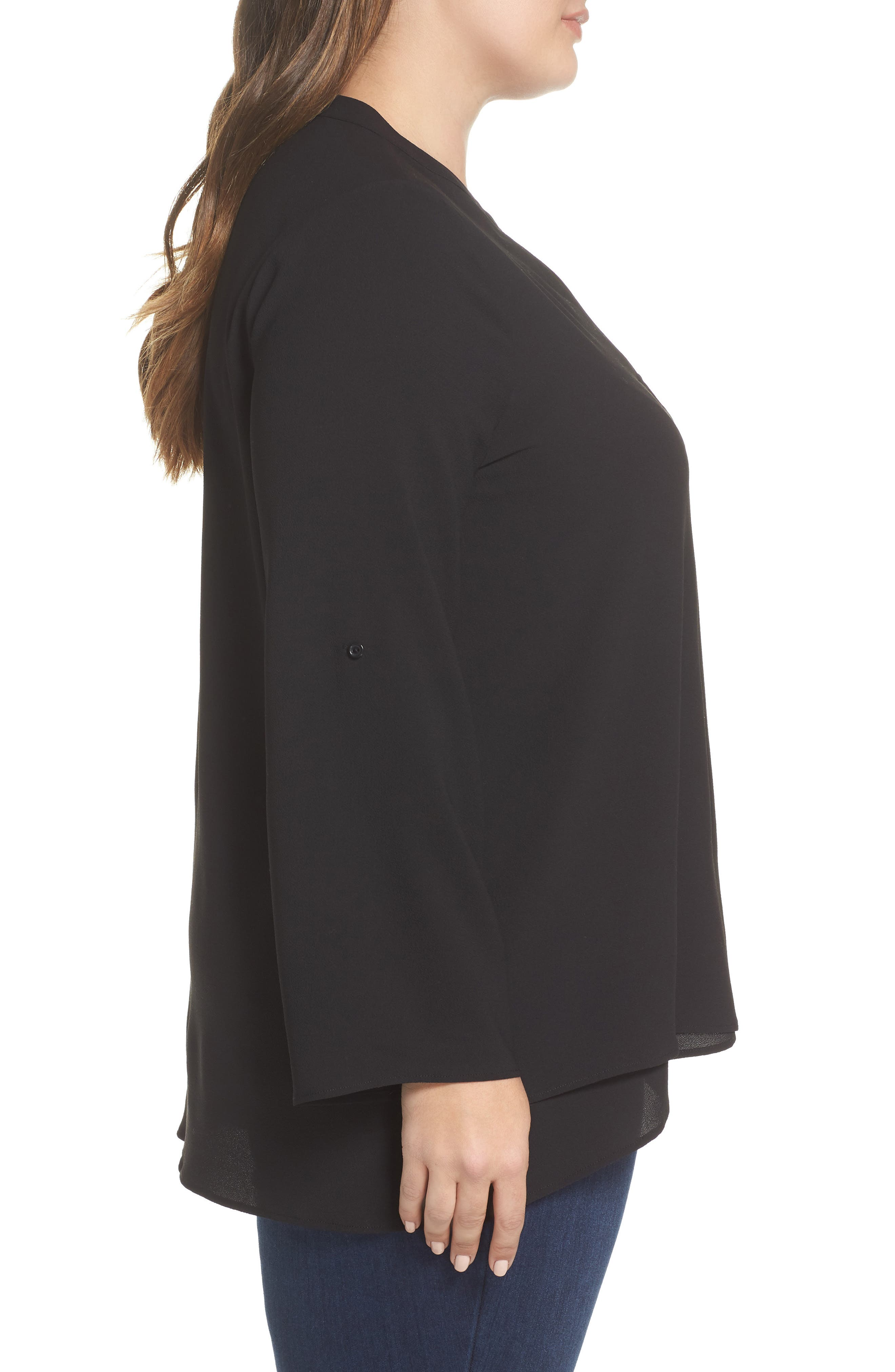 x Living in Yellow Erin Crossover Tunic,                             Alternate thumbnail 3, color,                             001