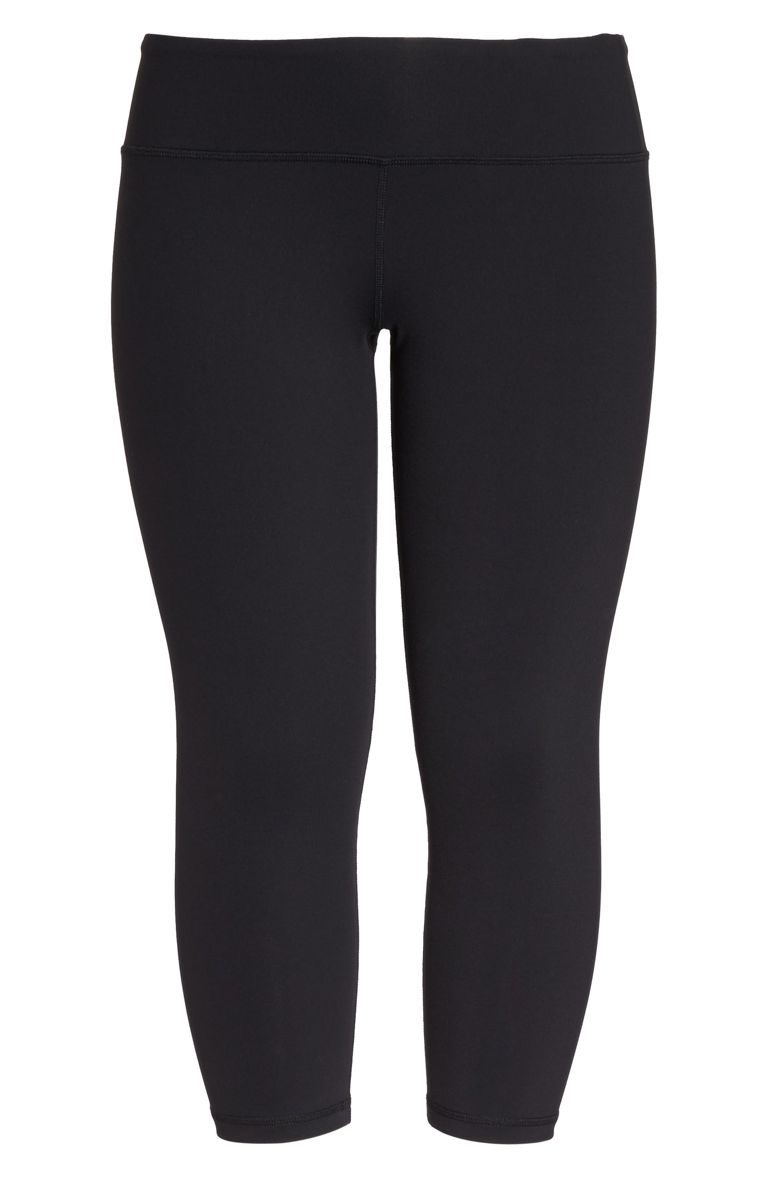 Crop Leggings,                             Alternate thumbnail 6, color,                             BLACK
