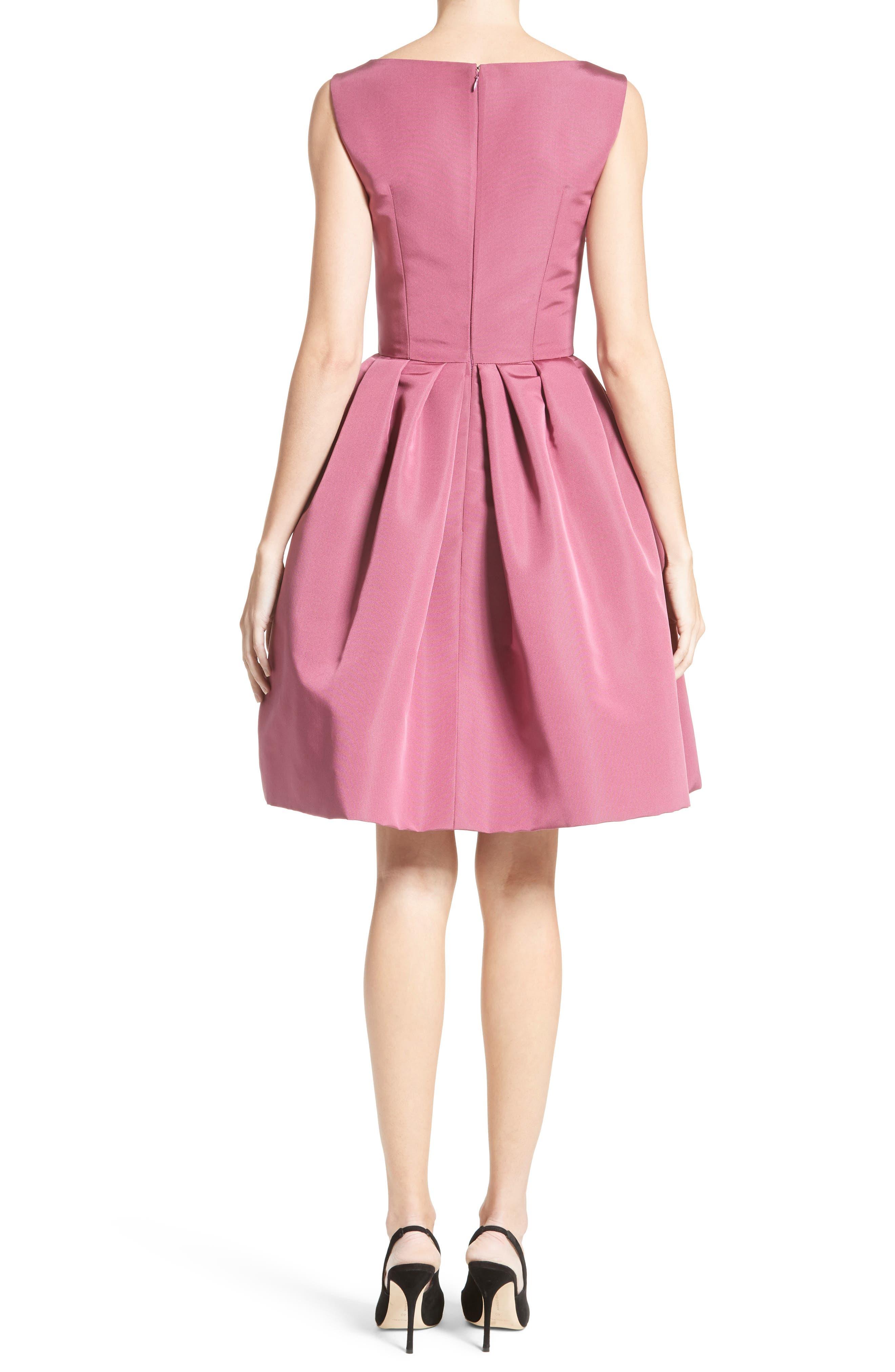 Embellished Silk Faille Dress,                             Alternate thumbnail 2, color,                             650