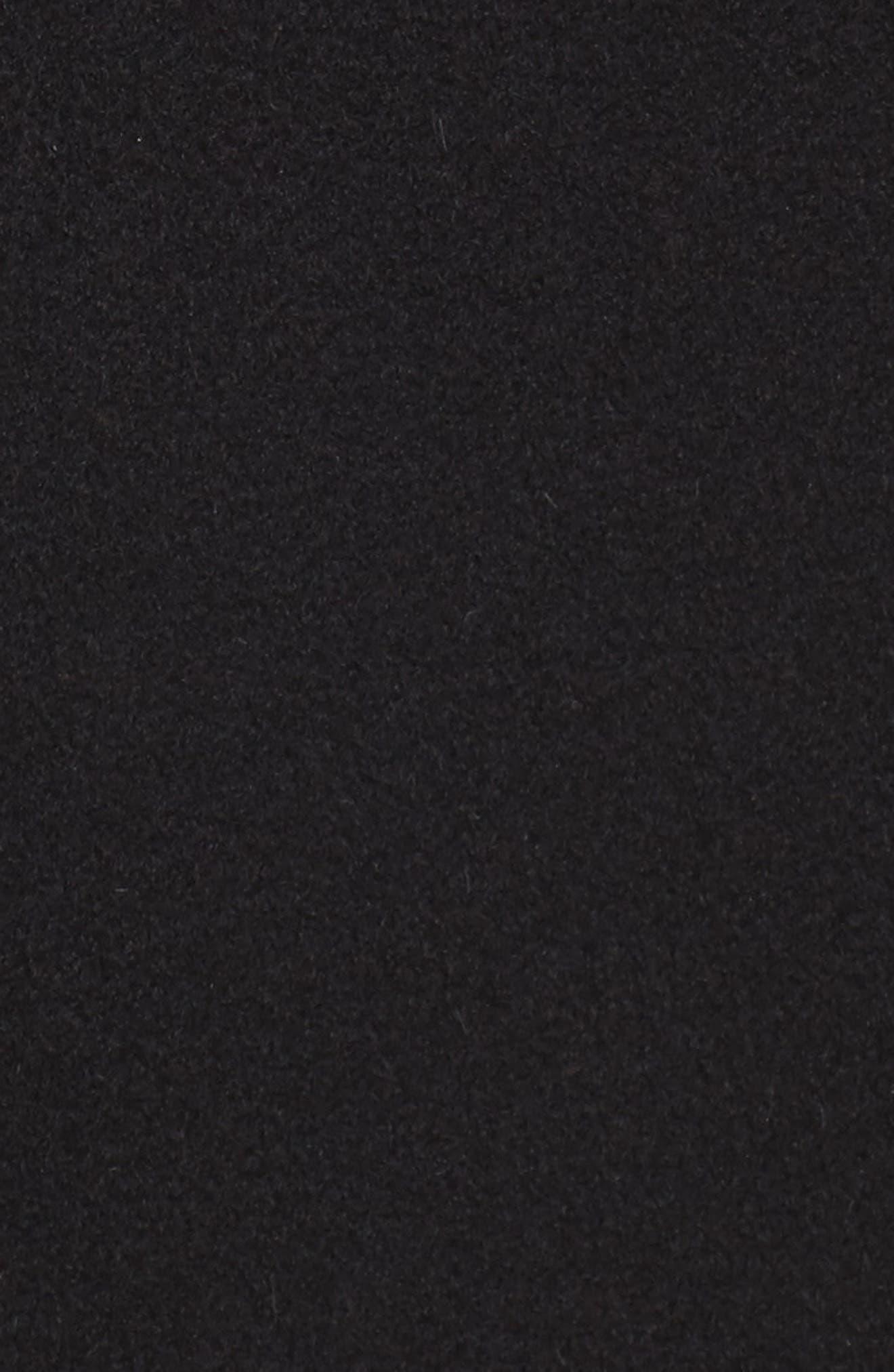 Notch Collar Cashmere Wrap Coat,                             Alternate thumbnail 6, color,                             001