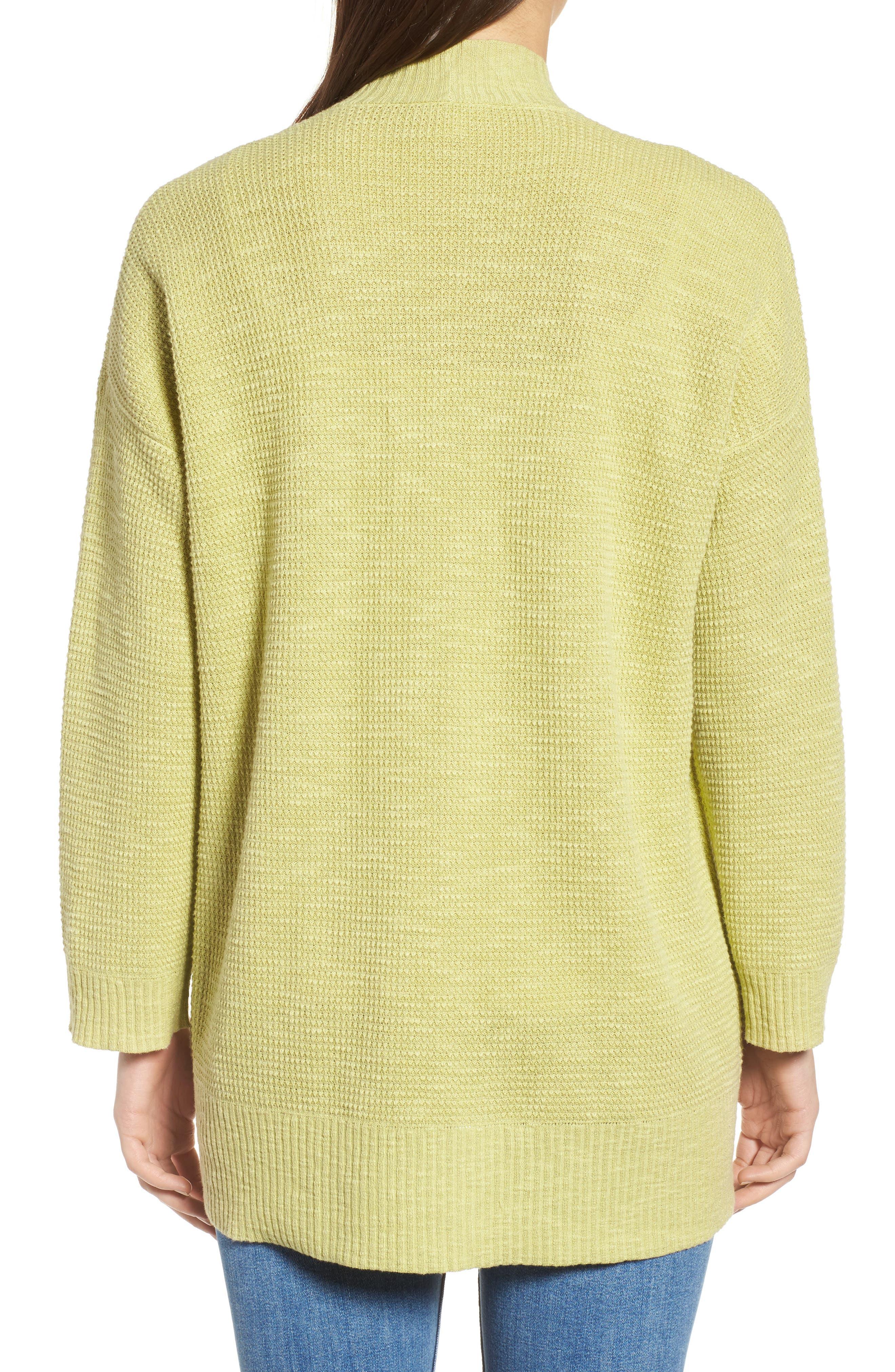 Organic Linen & Cotton Cardigan,                             Alternate thumbnail 3, color,