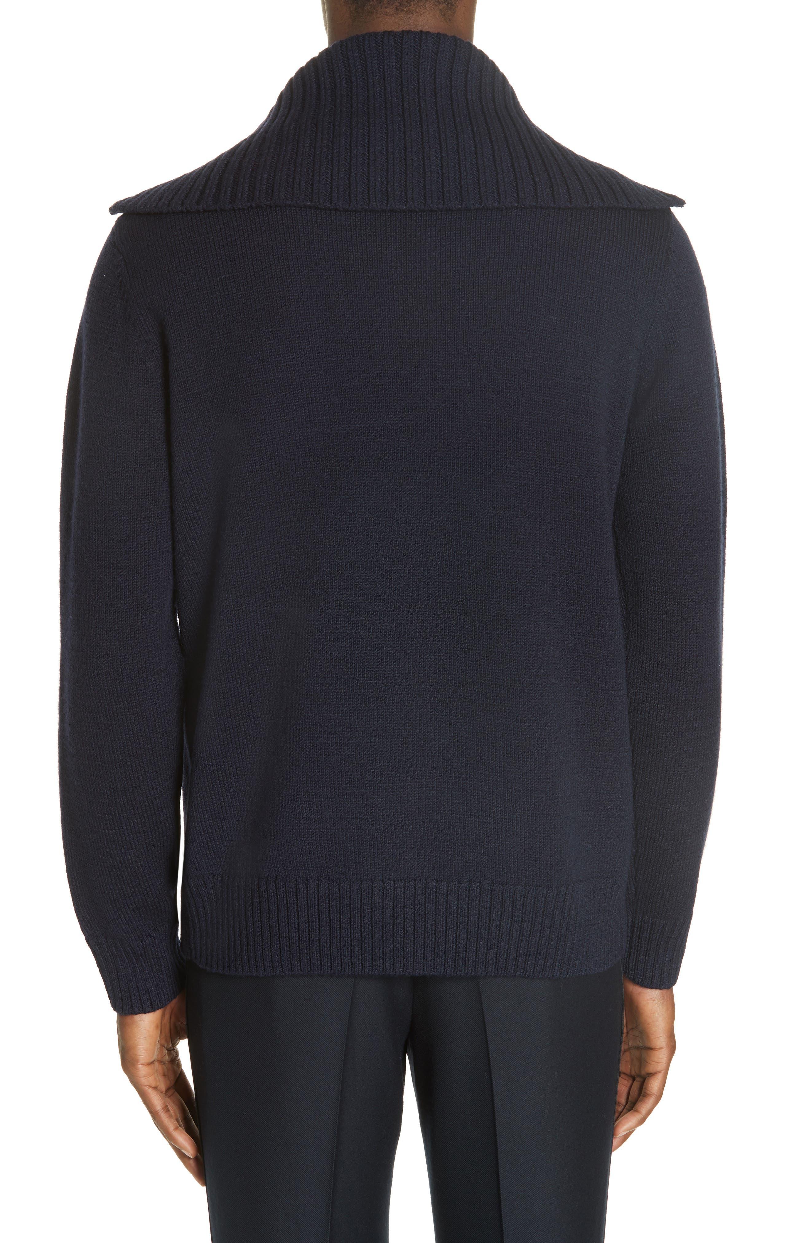 Mikhos Half Zip Sweater,                             Alternate thumbnail 2, color,                             NAVY