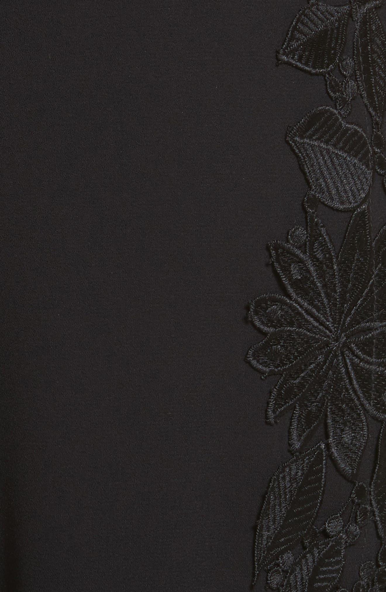 Benny Side Lace Crop Pants,                             Alternate thumbnail 6, color,                             001