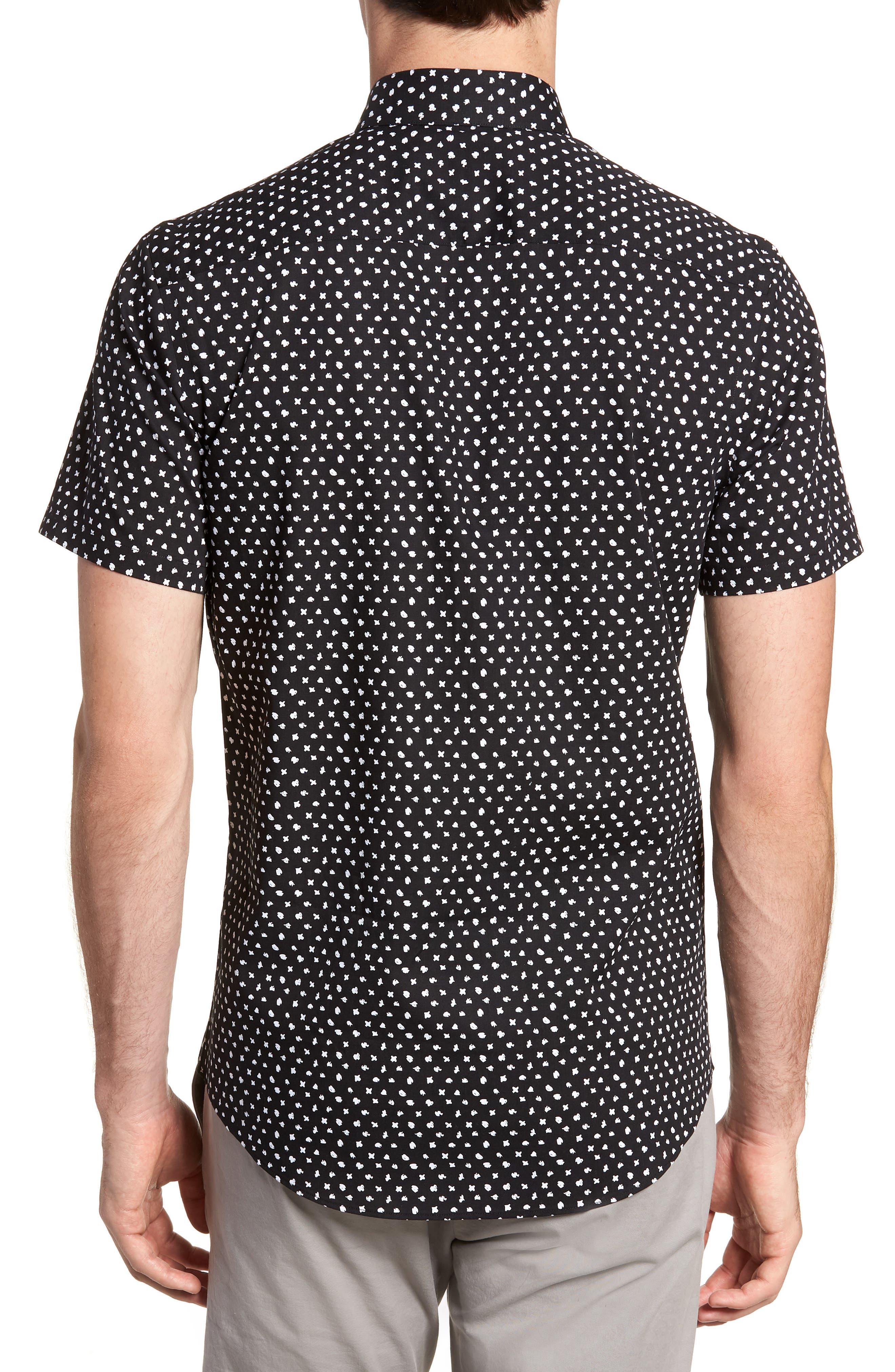 CALIBRATE,                             Trim Fit Dot Print Sport Shirt,                             Alternate thumbnail 2, color,                             001